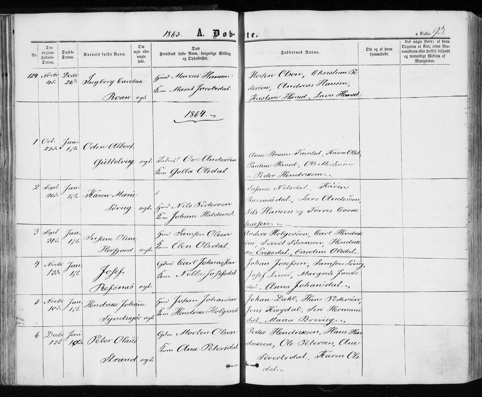 SAT, Ministerialprotokoller, klokkerbøker og fødselsregistre - Sør-Trøndelag, 657/L0705: Ministerialbok nr. 657A06, 1858-1867, s. 93