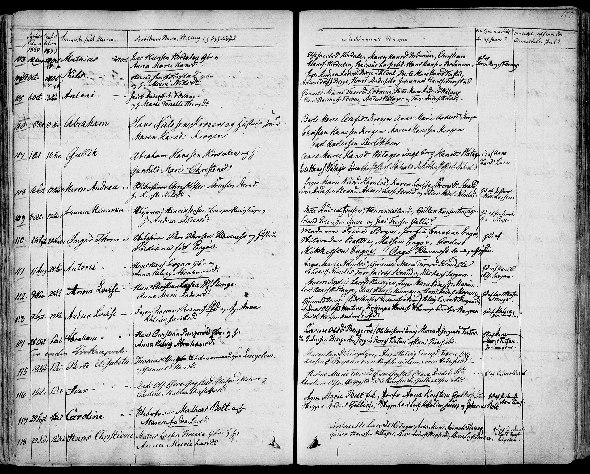 SAKO, Sandar kirkebøker, F/Fa/L0005: Ministerialbok nr. 5, 1832-1847, s. 176-177