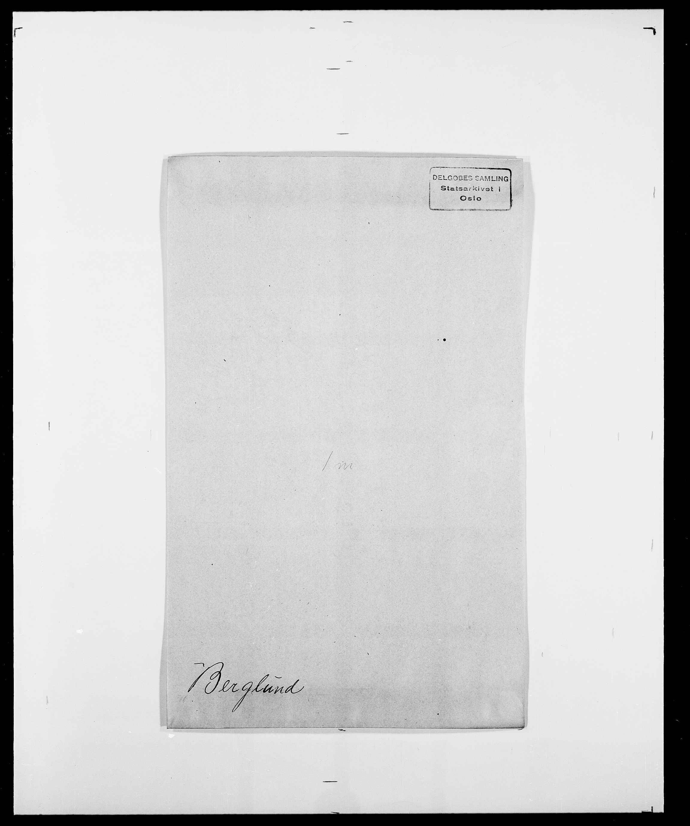 SAO, Delgobe, Charles Antoine - samling, D/Da/L0004: Bergendahl - Blære, s. 36
