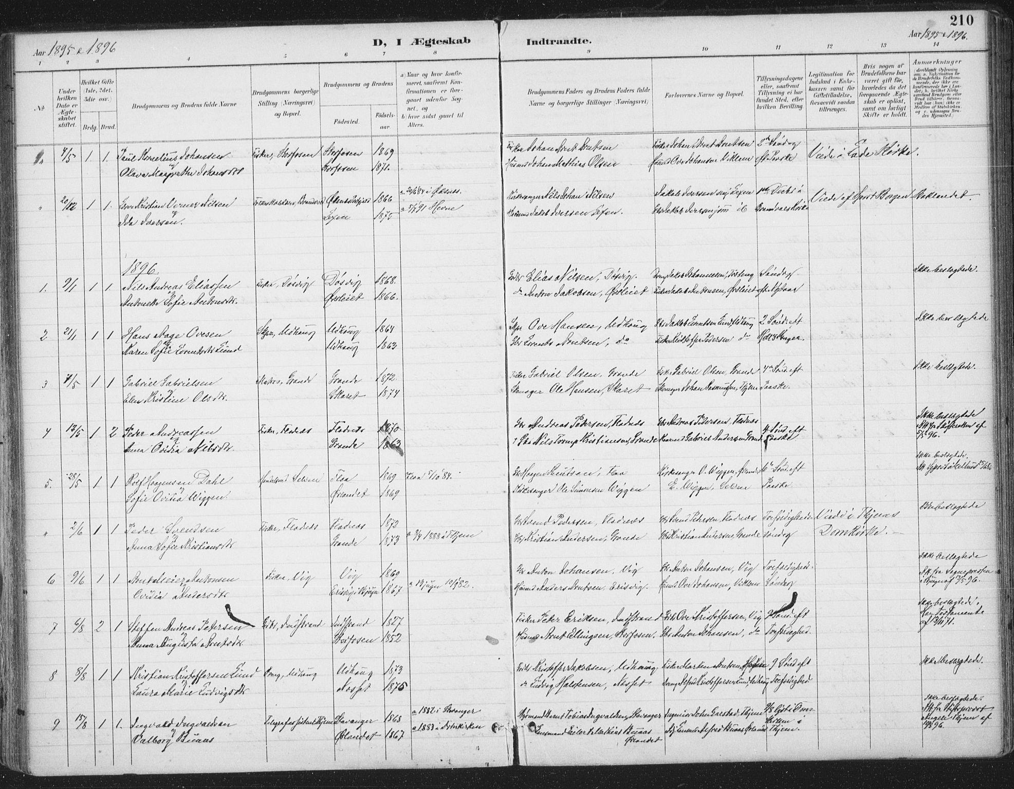 SAT, Ministerialprotokoller, klokkerbøker og fødselsregistre - Sør-Trøndelag, 659/L0743: Ministerialbok nr. 659A13, 1893-1910, s. 210