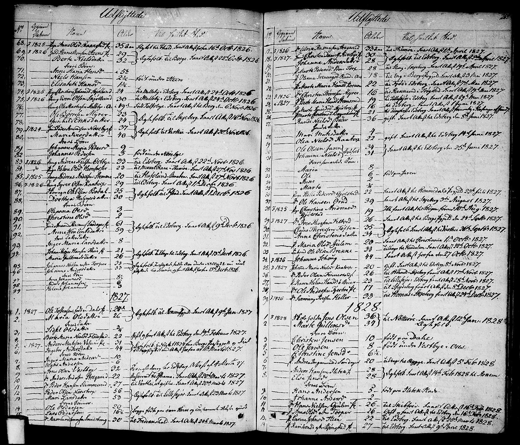 SAO, Rakkestad prestekontor Kirkebøker, F/Fa/L0007: Ministerialbok nr. I 7, 1825-1841, s. 265