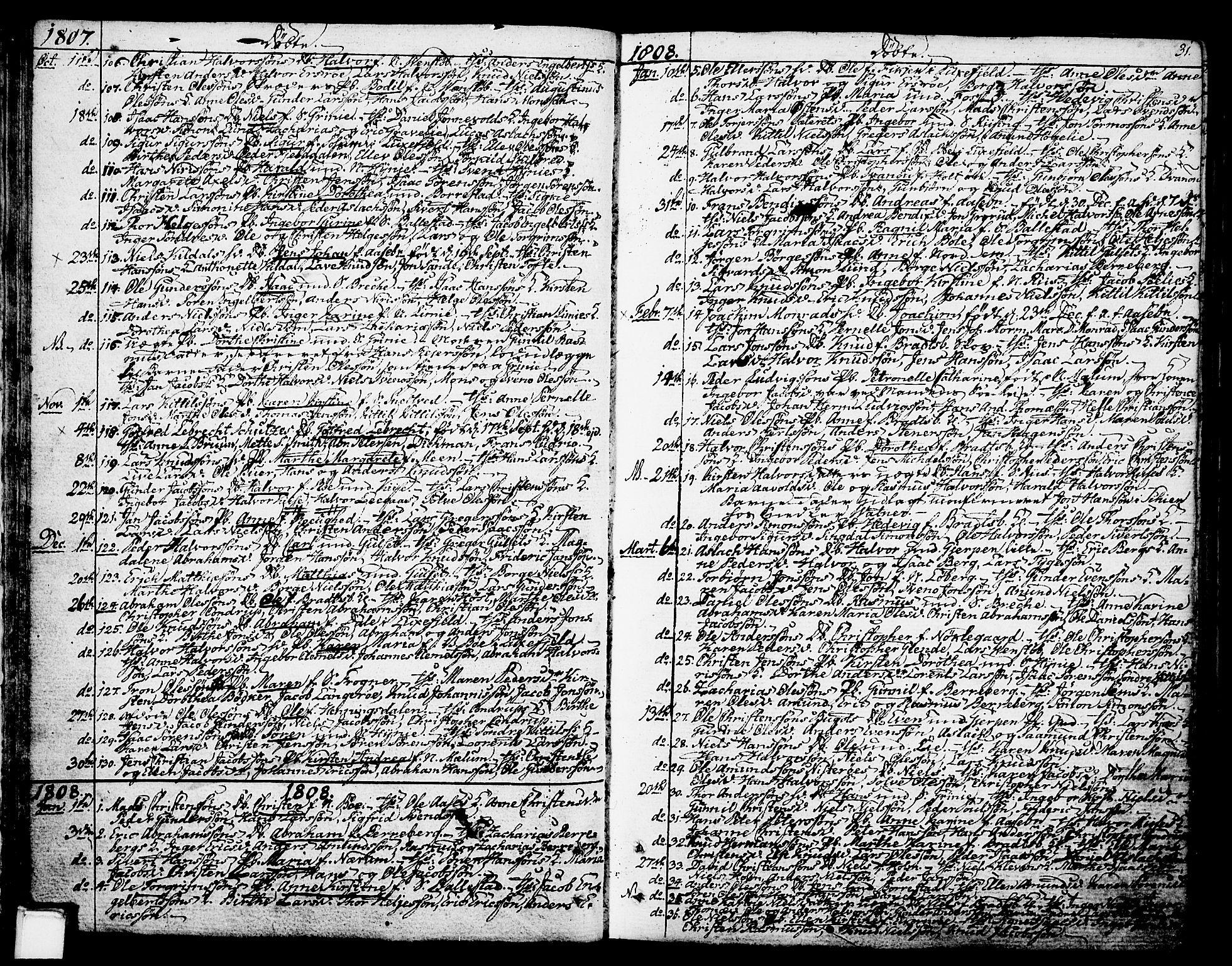 SAKO, Gjerpen kirkebøker, F/Fa/L0003: Ministerialbok nr. 3, 1796-1814, s. 31