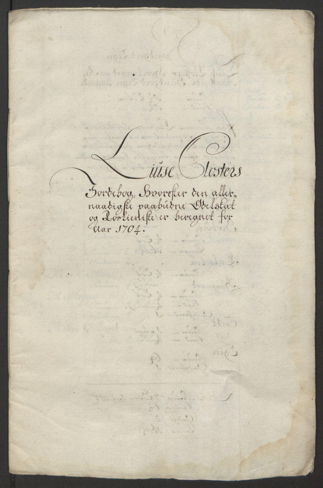 RA, Rentekammeret inntil 1814, Reviderte regnskaper, Fogderegnskap, R50/L3159: Fogderegnskap Lyse kloster, 1691-1709, s. 204
