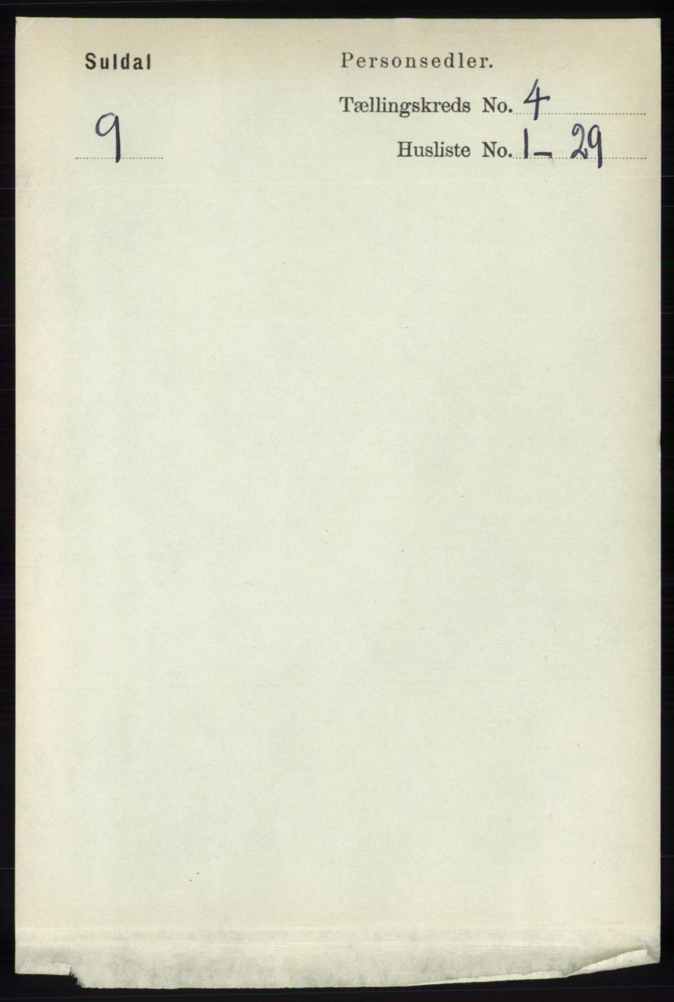 RA, Folketelling 1891 for 1134 Suldal herred, 1891, s. 866