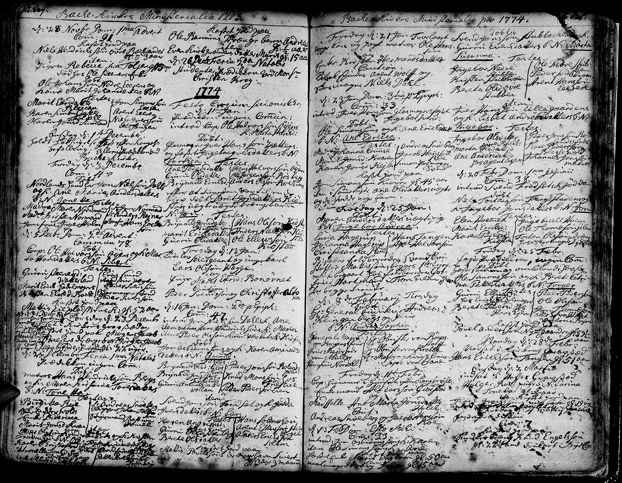 SAT, Ministerialprotokoller, klokkerbøker og fødselsregistre - Sør-Trøndelag, 606/L0276: Ministerialbok nr. 606A01 /2, 1727-1779, s. 624-625
