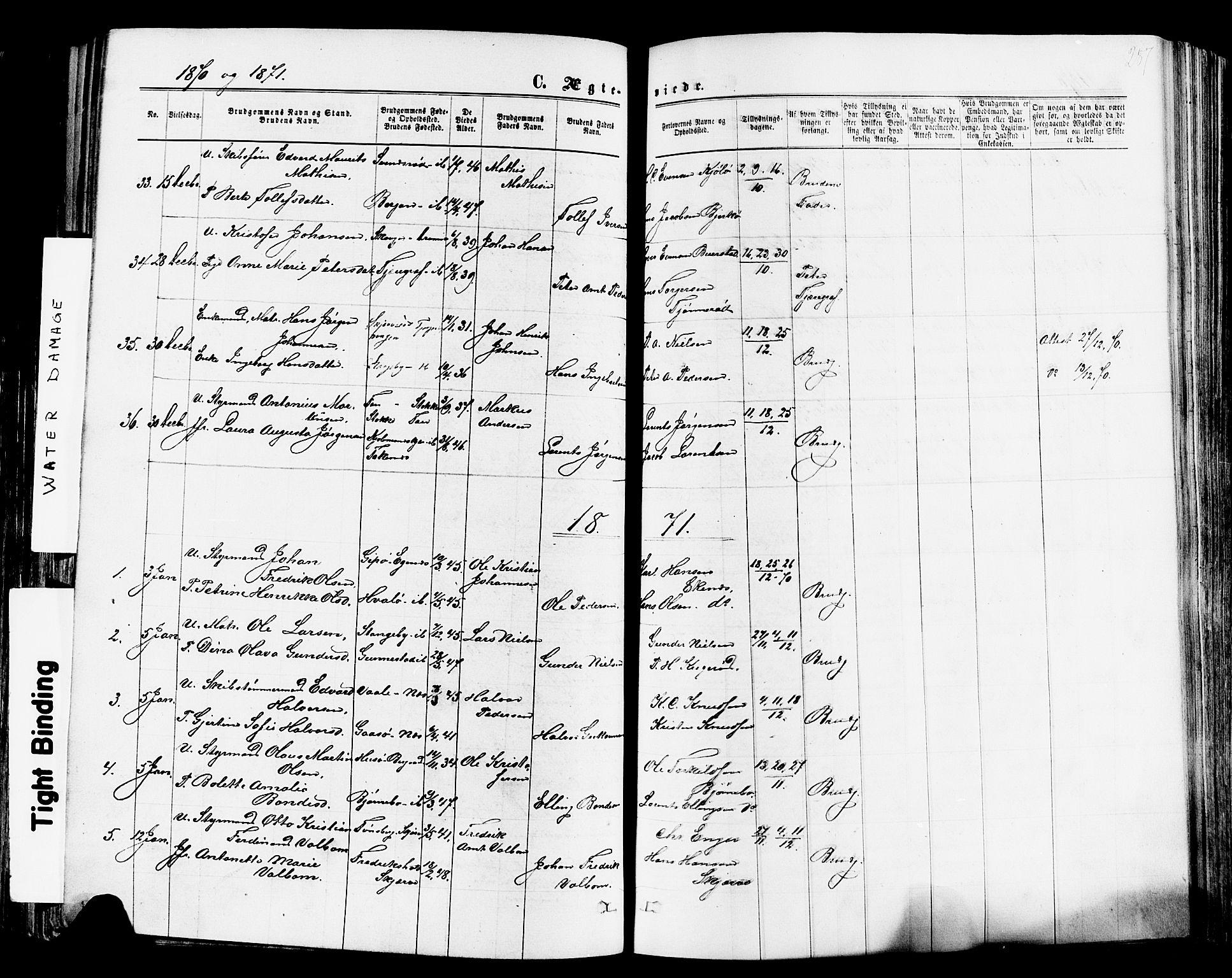 SAKO, Nøtterøy kirkebøker, F/Fa/L0007: Ministerialbok nr. I 7, 1865-1877, s. 287