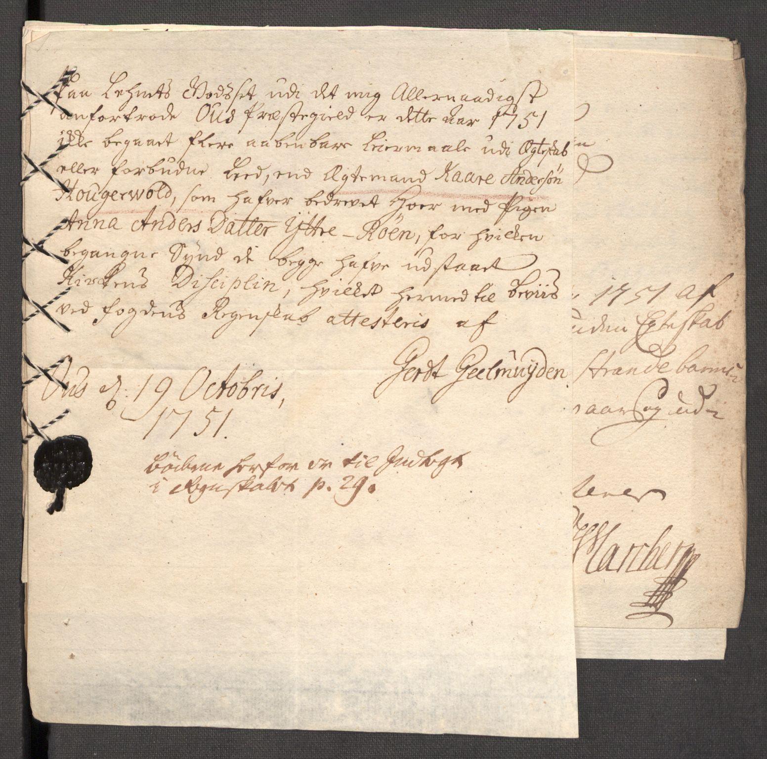 RA, Rentekammeret inntil 1814, Reviderte regnskaper, Fogderegnskap, R48/L3056: Fogderegnskap Sunnhordland og Hardanger, 1751, s. 188