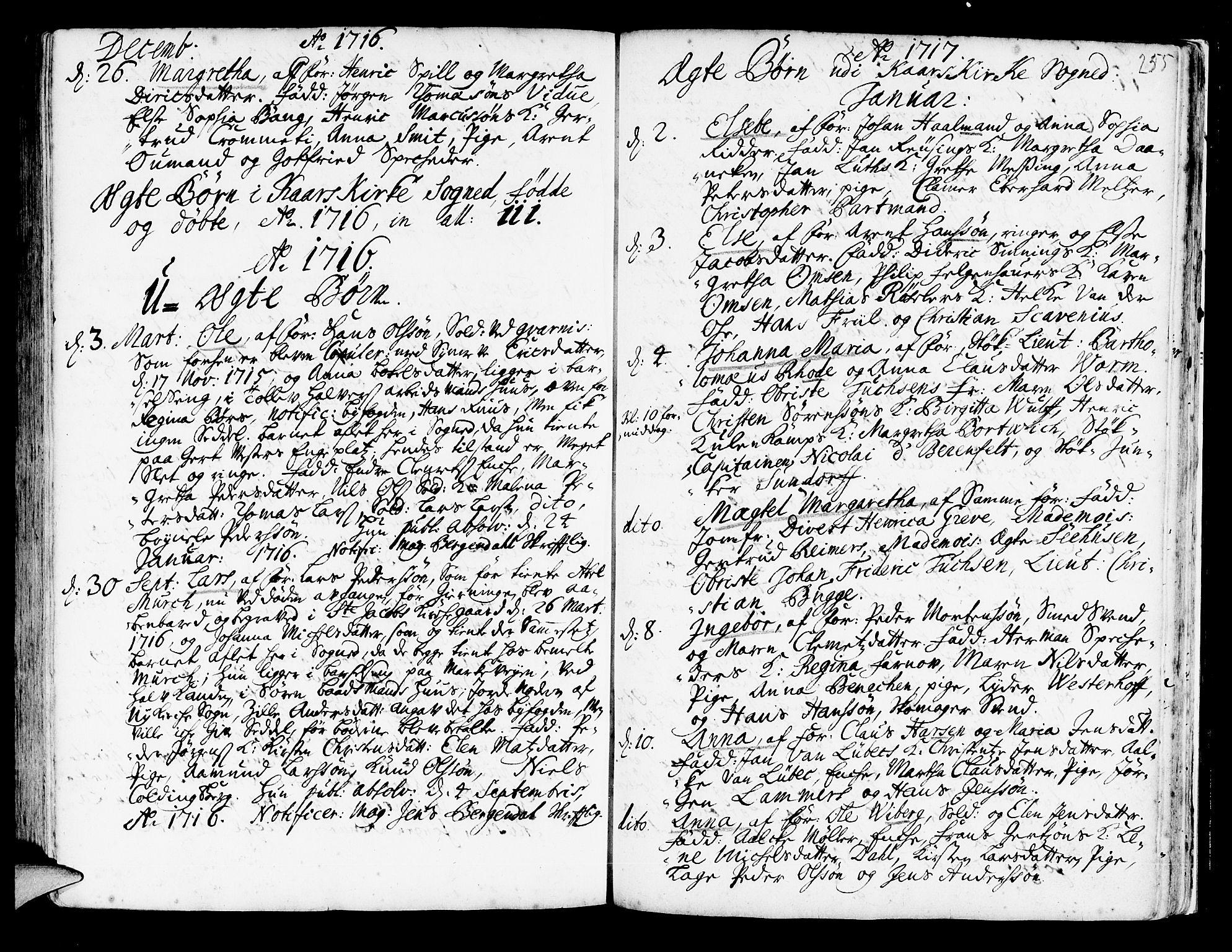 SAB, Korskirken Sokneprestembete, H/Haa/L0003: Ministerialbok nr. A 3, 1698-1719, s. 255