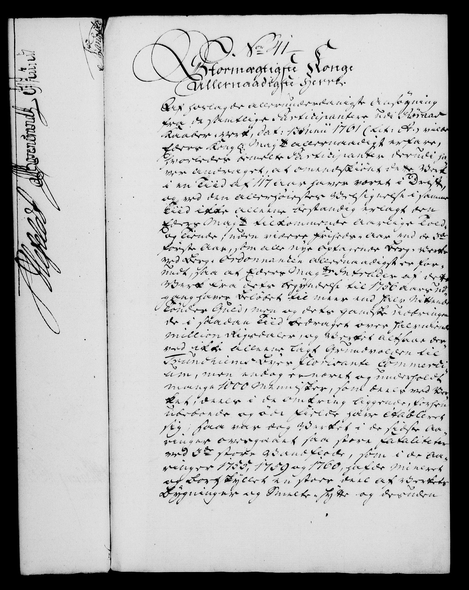 RA, Rentekammeret, Kammerkanselliet, G/Gf/Gfa/L0046: Norsk relasjons- og resolusjonsprotokoll (merket RK 52.46), 1764, s. 182