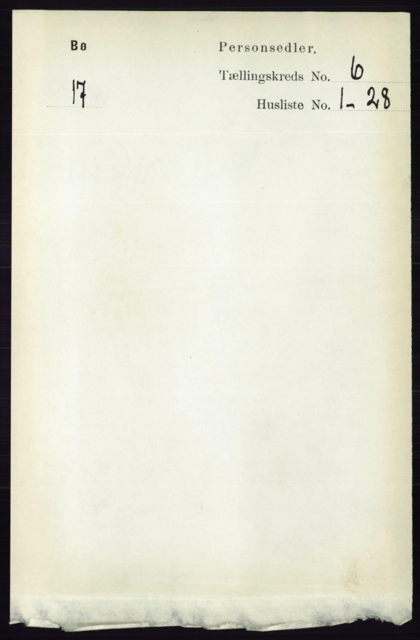 RA, Folketelling 1891 for 0821 Bø herred, 1891, s. 1896
