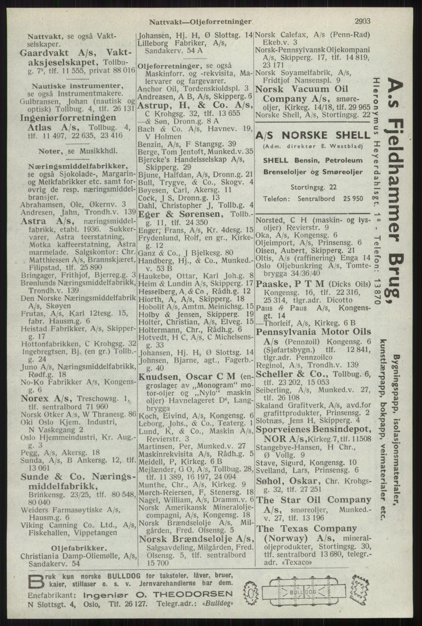 RA, Oslo adressebok (publikasjon)*, 1941, s. 2903