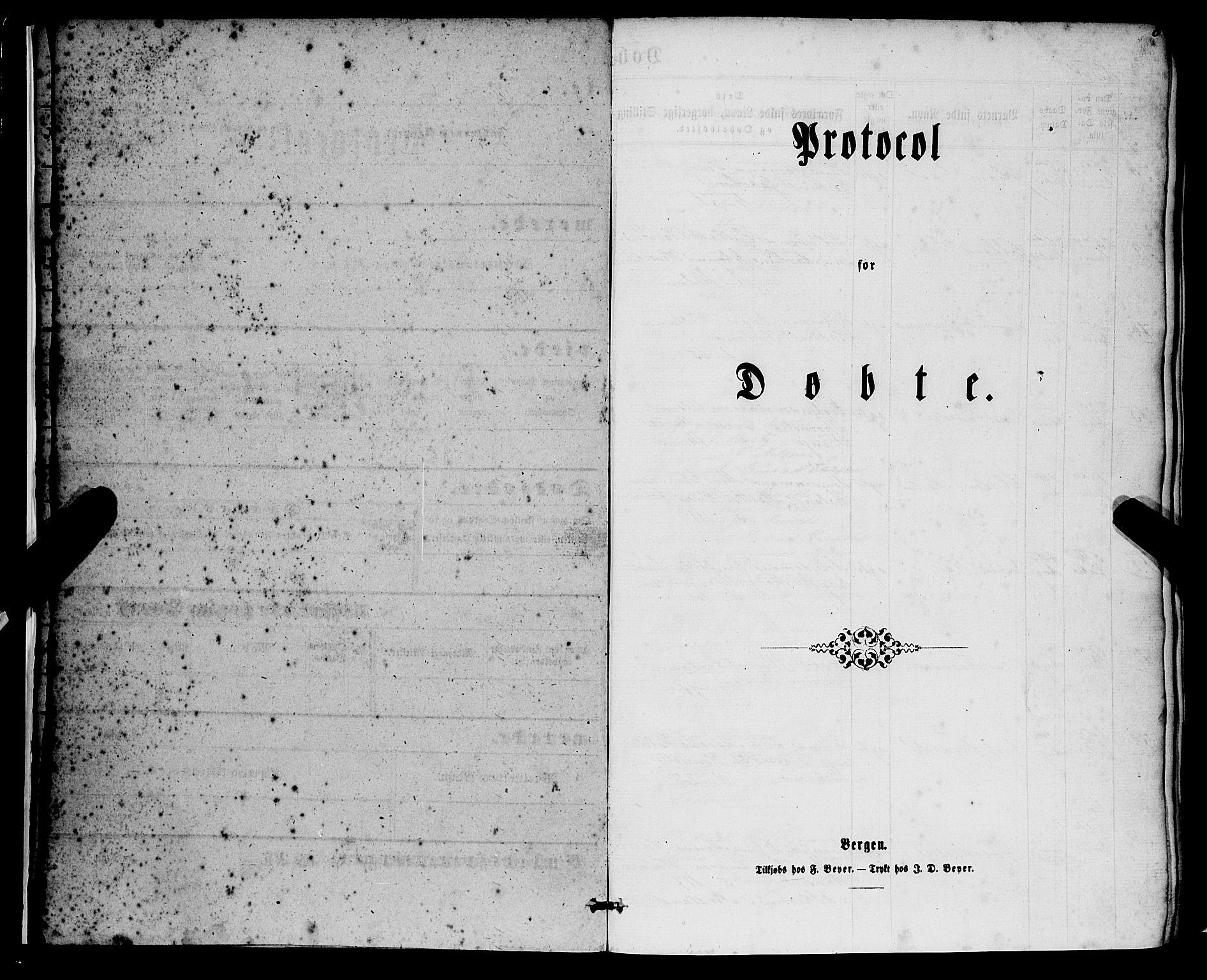SAB, Nykirken Sokneprestembete, H/Haa: Ministerialbok nr. B 2, 1858-1869, s. 5