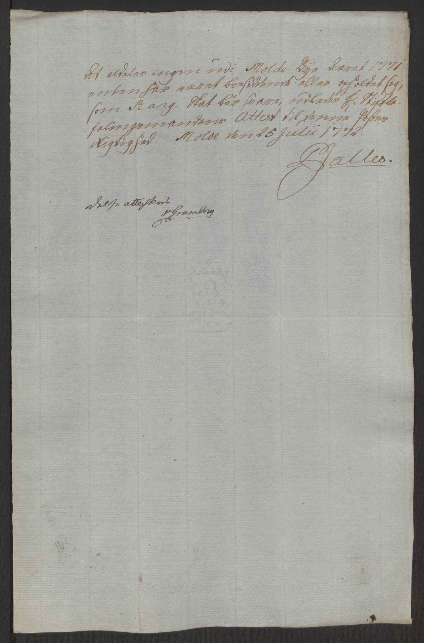 RA, Rentekammeret inntil 1814, Reviderte regnskaper, Byregnskaper, R/Rq/L0487: [Q1] Kontribusjonsregnskap, 1762-1772, s. 207