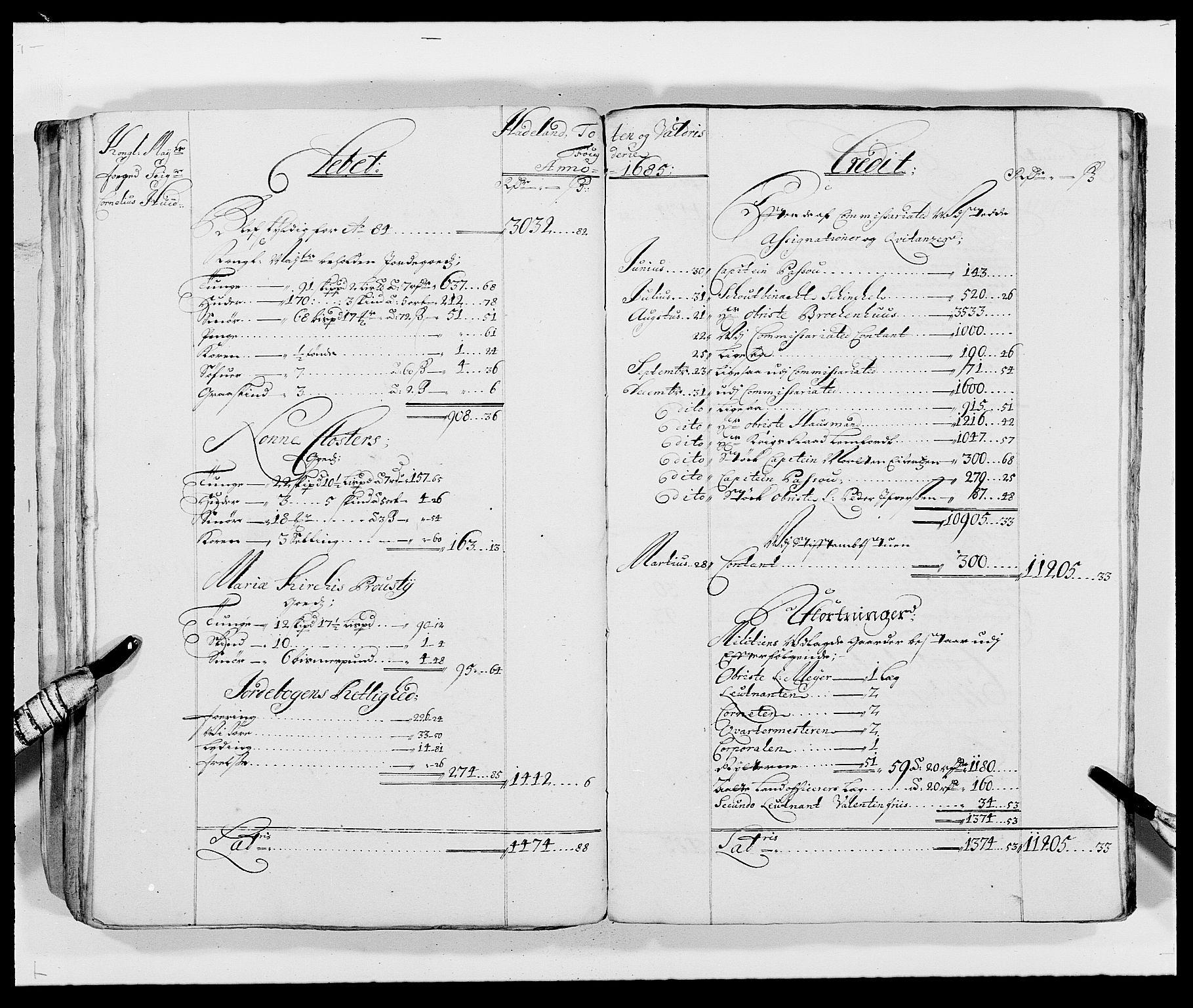 RA, Rentekammeret inntil 1814, Reviderte regnskaper, Fogderegnskap, R18/L1287: Fogderegnskap Hadeland, Toten og Valdres, 1688, s. 116