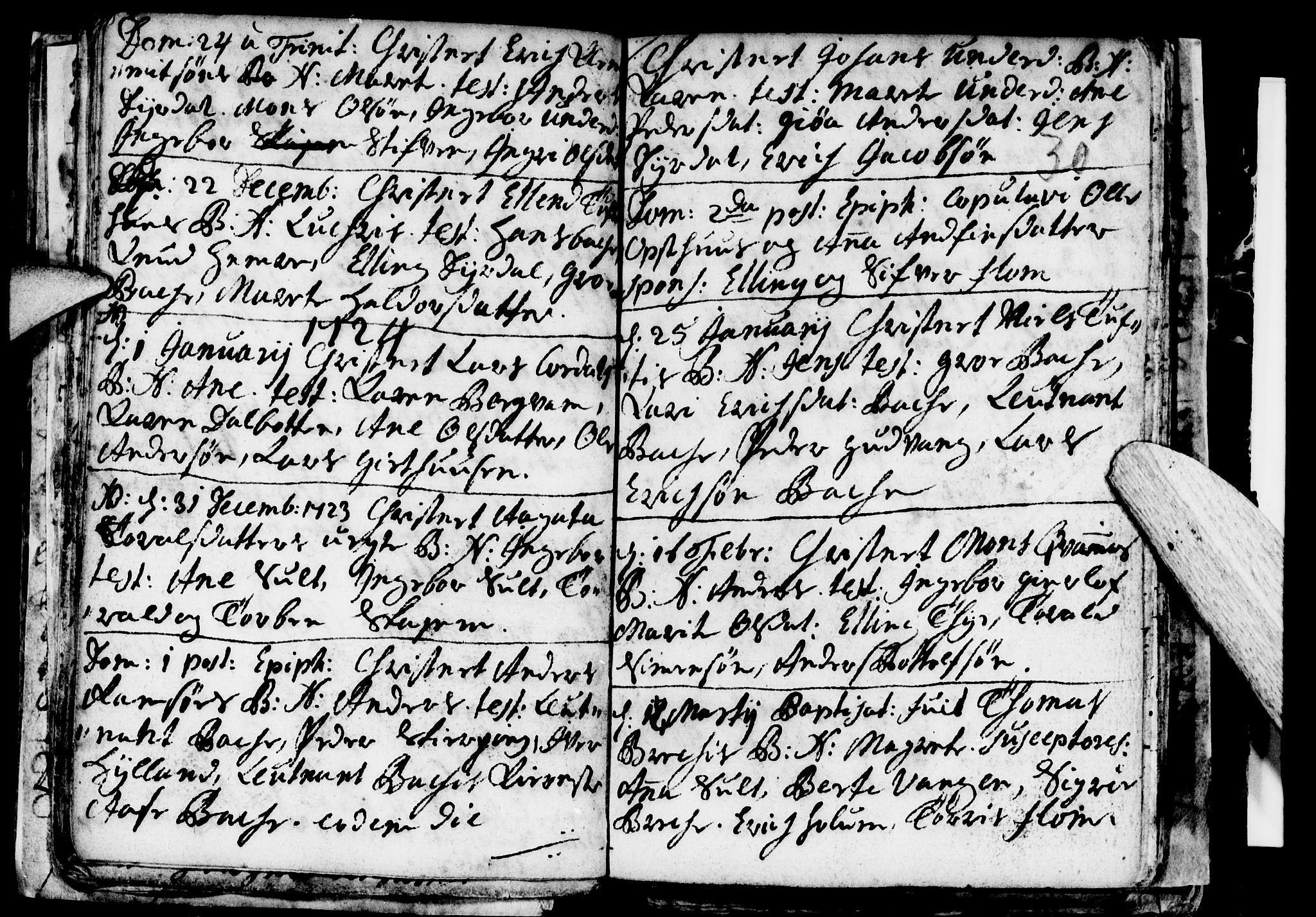 SAB, Aurland Sokneprestembete*, Ministerialbok nr. A 1, 1716-1734, s. 30