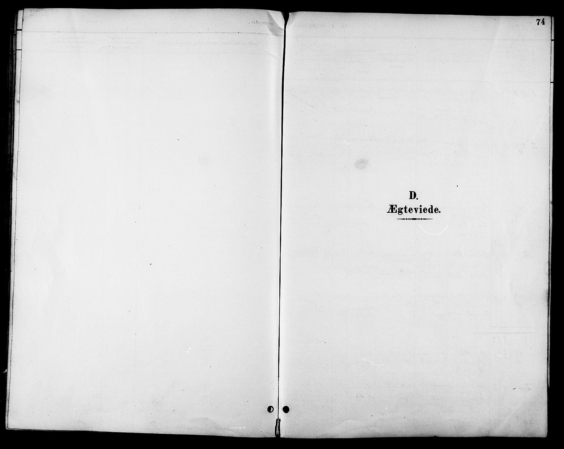 SAT, Ministerialprotokoller, klokkerbøker og fødselsregistre - Sør-Trøndelag, 685/L0978: Klokkerbok nr. 685C03, 1891-1907, s. 74