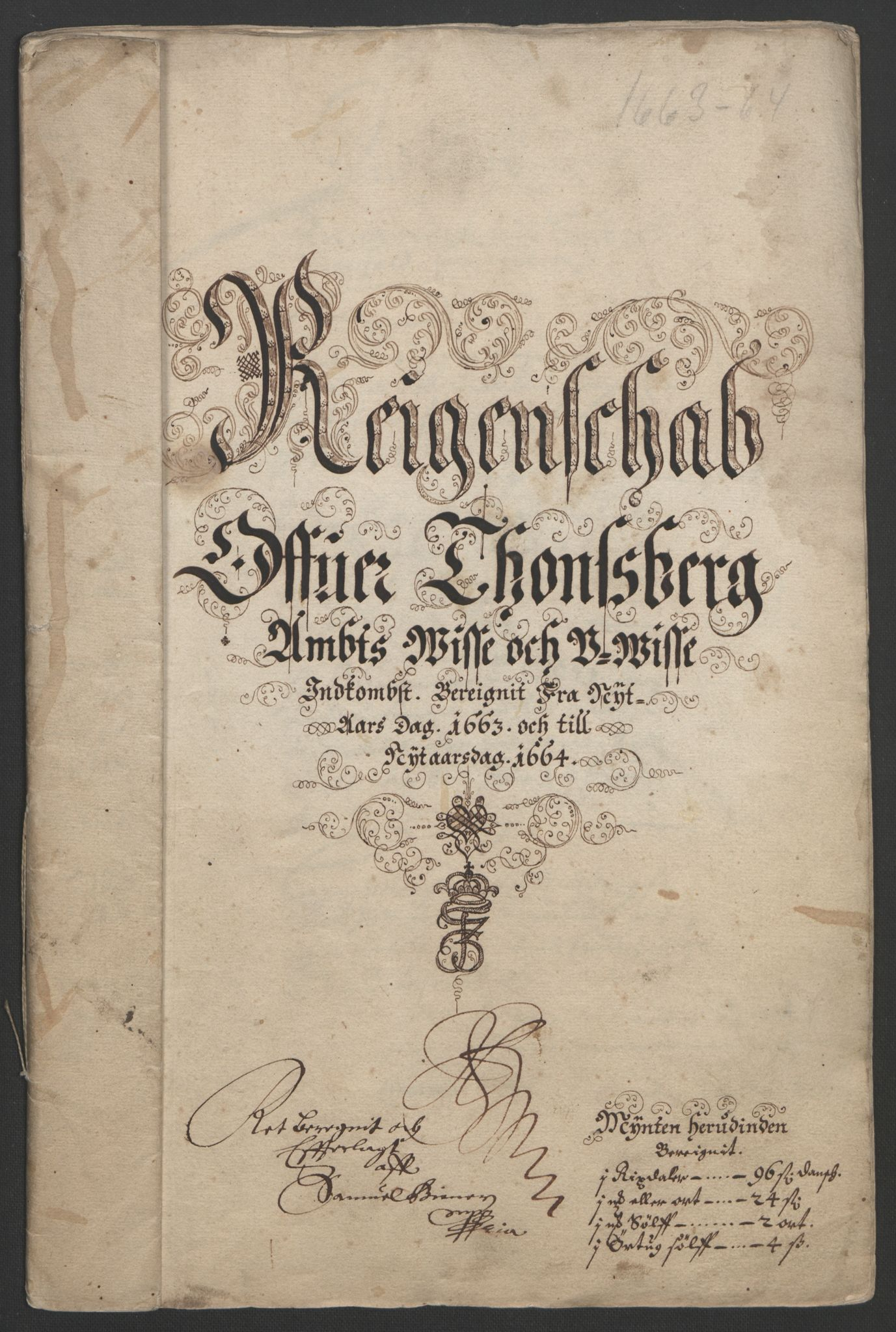 RA, Rentekammeret inntil 1814, Reviderte regnskaper, Fogderegnskap, R32/L1838: Fogderegnskap Jarlsberg grevskap, 1661-1663, s. 295