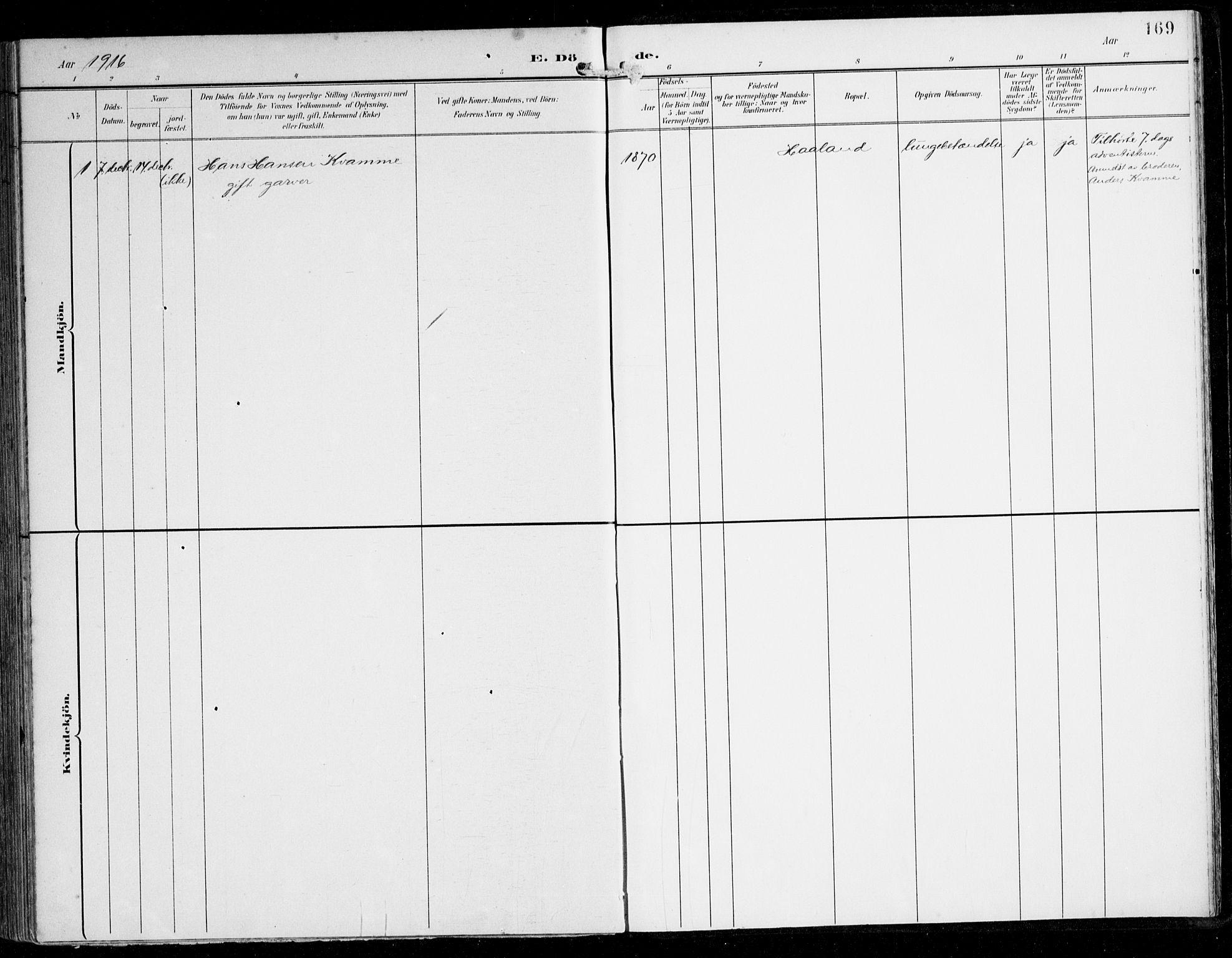 SAB, Alversund Sokneprestembete, H/Ha/Haa/Haaa/L0003: Ministerialbok nr. A 3, 1897-1926, s. 169