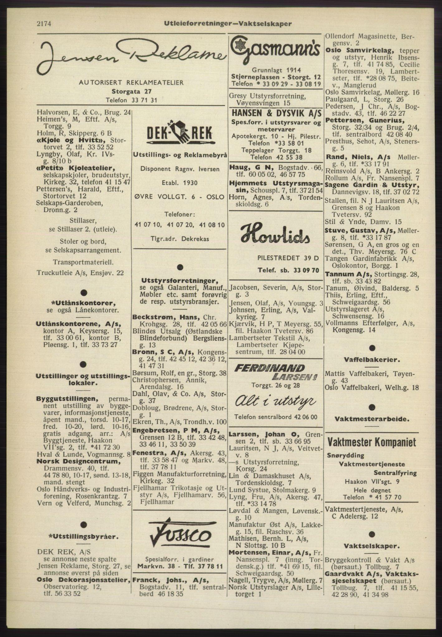 PUBL, Kristiania/Oslo adressebok, 1965-1966, s. 2174