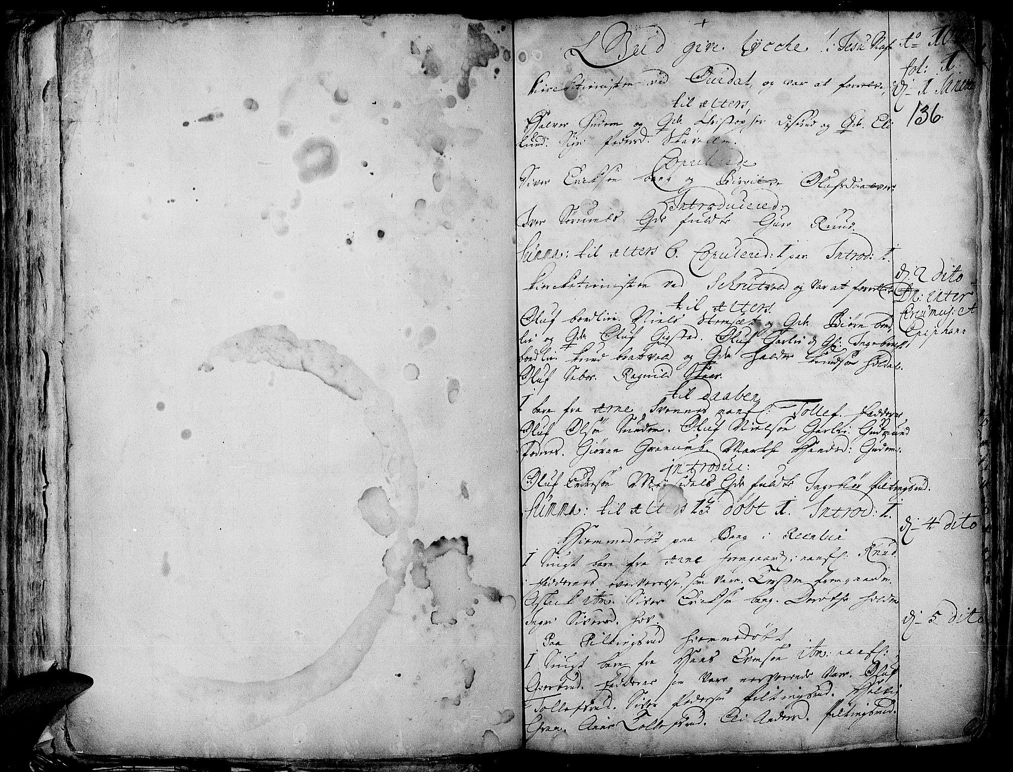 SAH, Aurdal prestekontor, Ministerialbok nr. 1-3, 1692-1730, s. 136