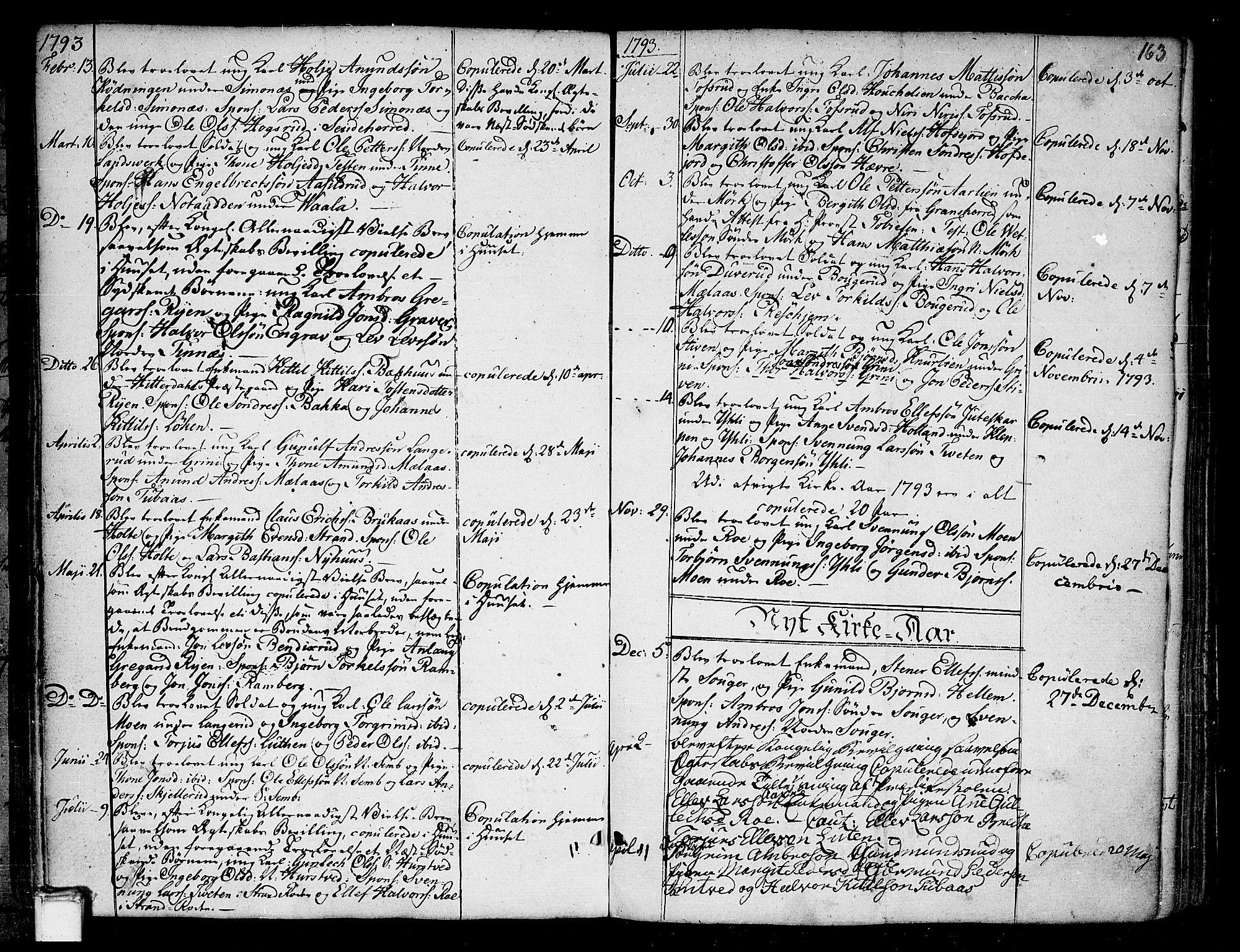 SAKO, Heddal kirkebøker, F/Fa/L0004: Ministerialbok nr. I 4, 1784-1814, s. 163