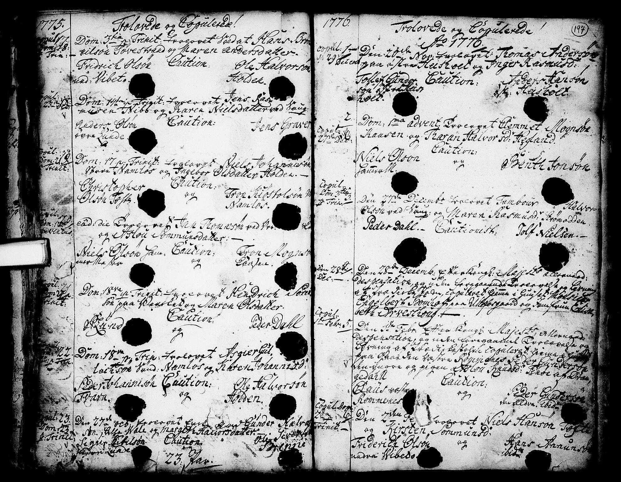 SAKO, Holla kirkebøker, F/Fa/L0001: Ministerialbok nr. 1, 1717-1779, s. 197