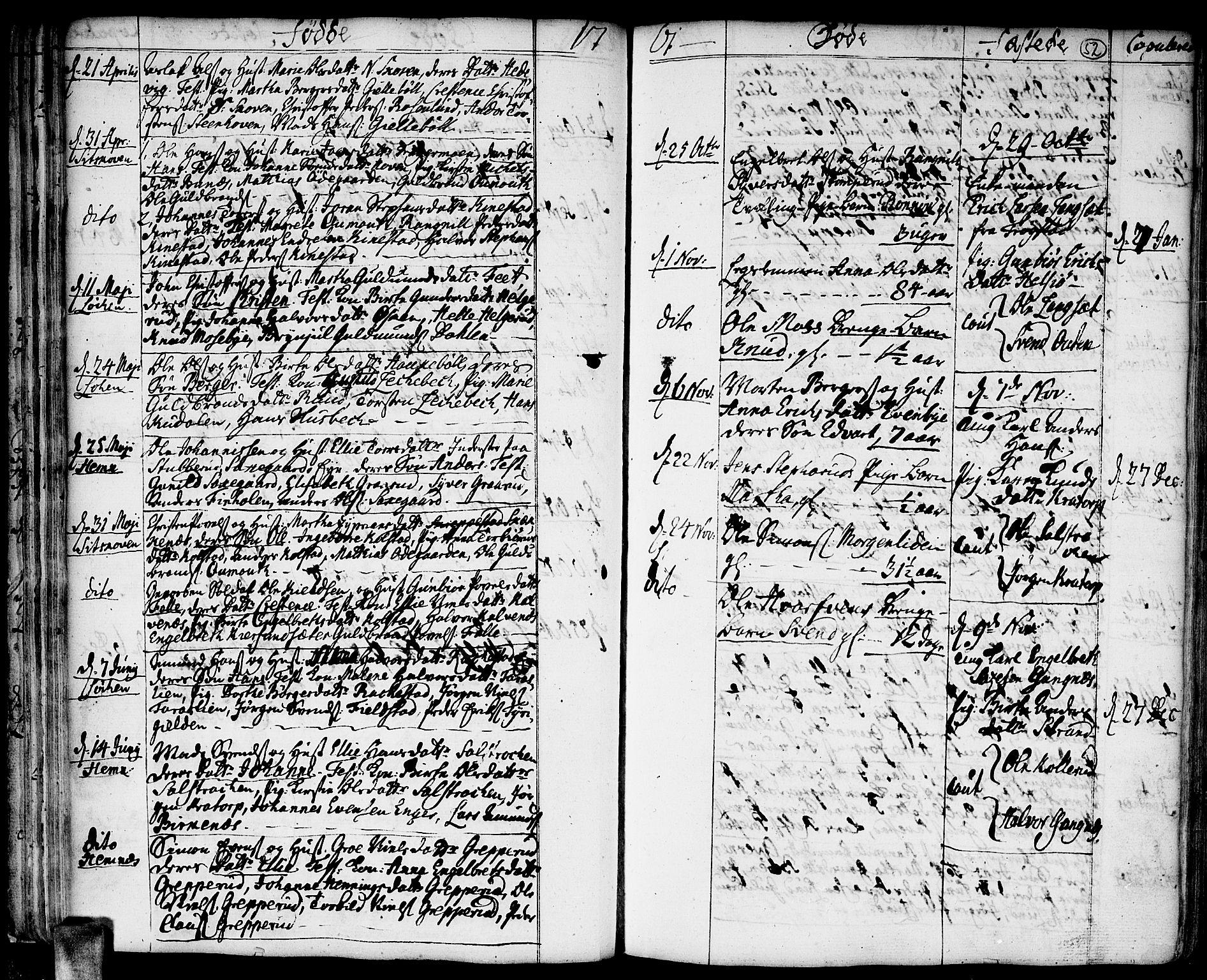 SAO, Høland prestekontor Kirkebøker, F/Fa/L0004: Ministerialbok nr. I 4, 1757-1780, s. 52