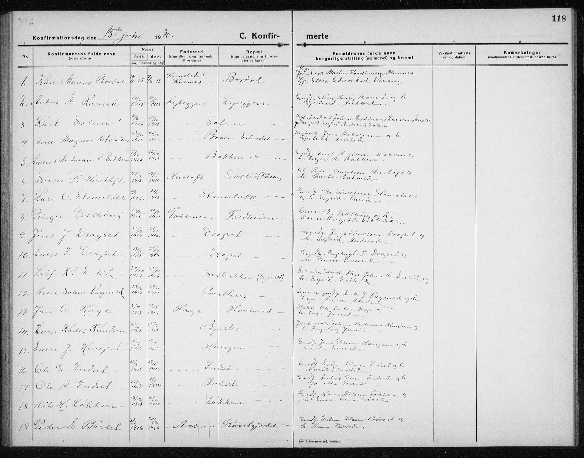 SAT, Ministerialprotokoller, klokkerbøker og fødselsregistre - Sør-Trøndelag, 689/L1045: Klokkerbok nr. 689C04, 1923-1940, s. 118