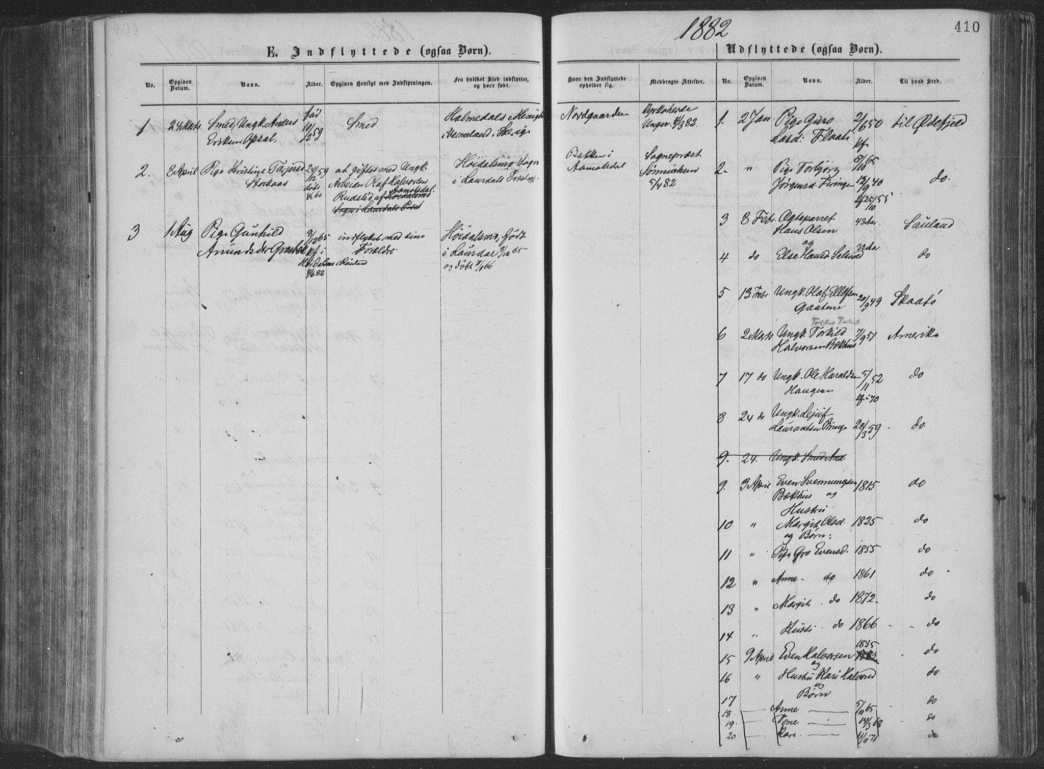 SAKO, Seljord kirkebøker, F/Fa/L0014: Ministerialbok nr. I 14, 1877-1886, s. 410