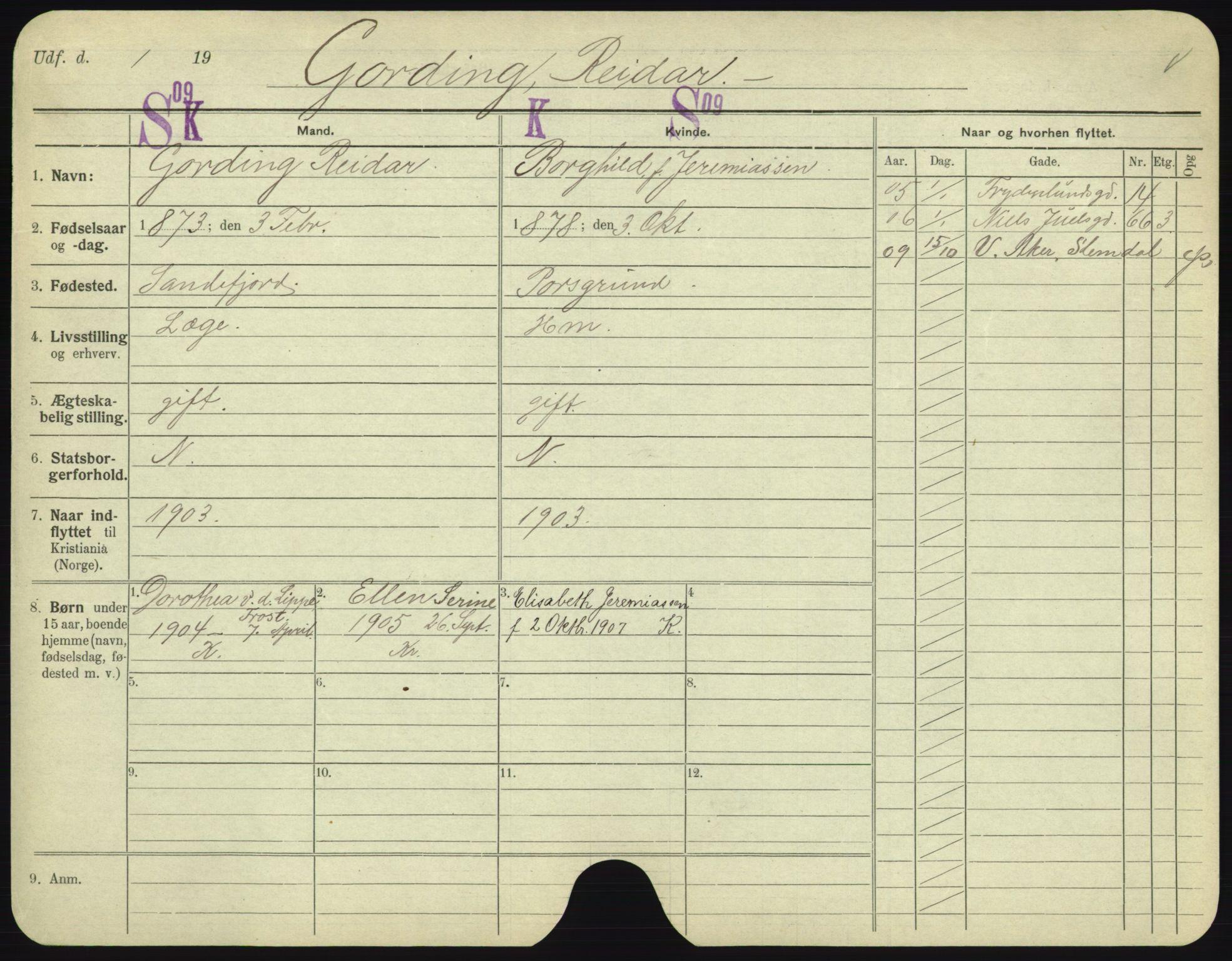 SAO, Oslo folkeregister, Registerkort, F/Fa/Fac/L0003: Menn, 1906-1914, s. 526a