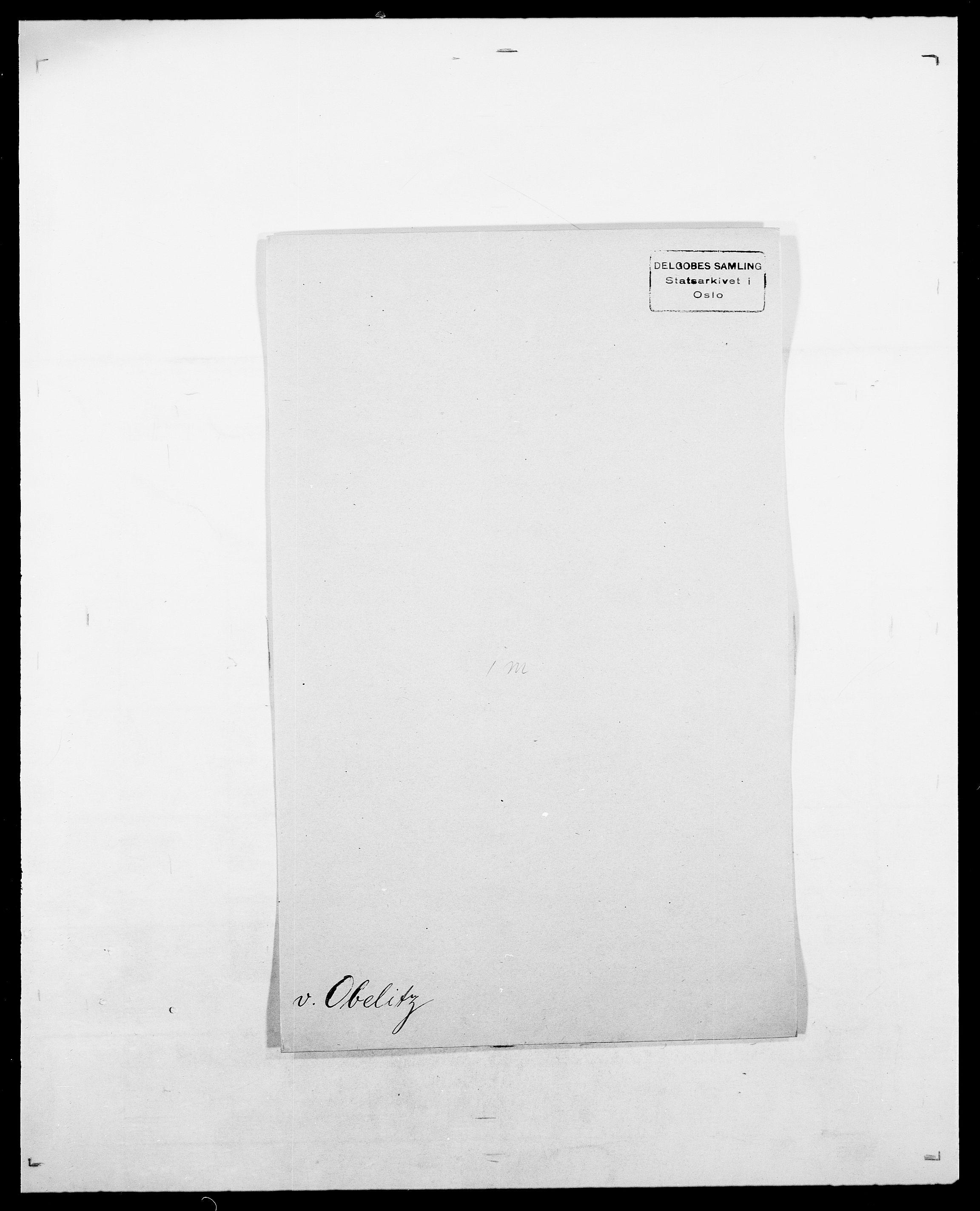 SAO, Delgobe, Charles Antoine - samling, D/Da/L0029: Obel - Oxholm, s. 4