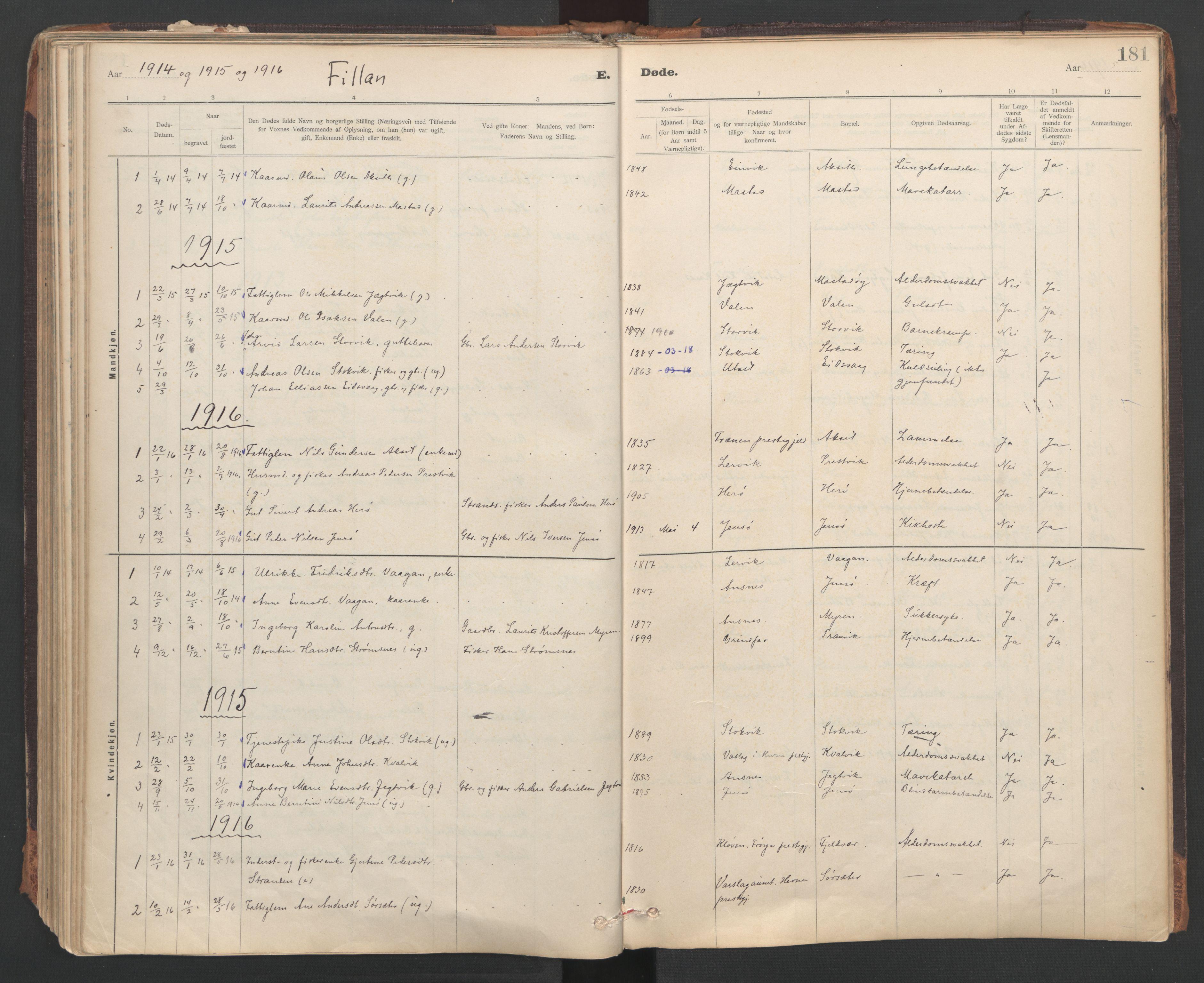 SAT, Ministerialprotokoller, klokkerbøker og fødselsregistre - Sør-Trøndelag, 637/L0559: Ministerialbok nr. 637A02, 1899-1923, s. 181