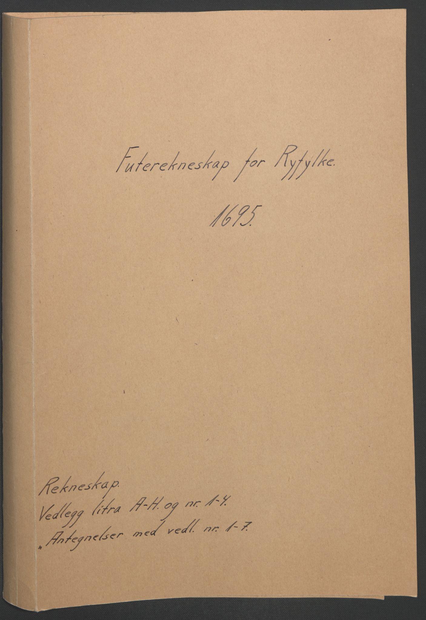 RA, Rentekammeret inntil 1814, Reviderte regnskaper, Fogderegnskap, R47/L2857: Fogderegnskap Ryfylke, 1694-1696, s. 107