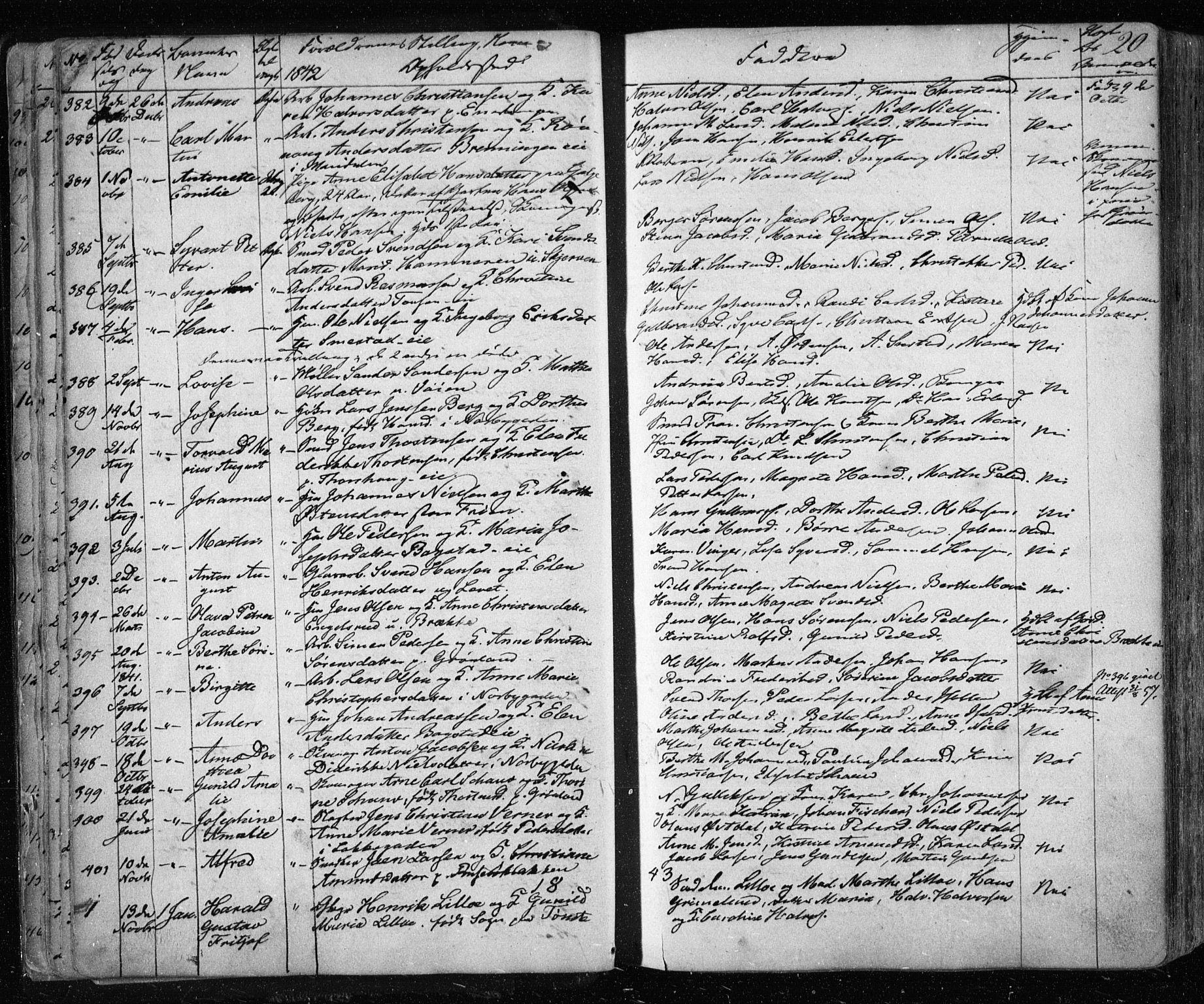 SAO, Aker prestekontor kirkebøker, F/L0019: Ministerialbok nr. 19, 1842-1852, s. 20