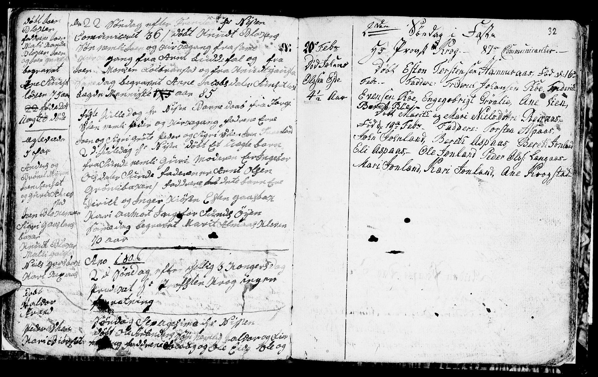 SAT, Ministerialprotokoller, klokkerbøker og fødselsregistre - Sør-Trøndelag, 694/L1129: Klokkerbok nr. 694C01, 1793-1815, s. 32