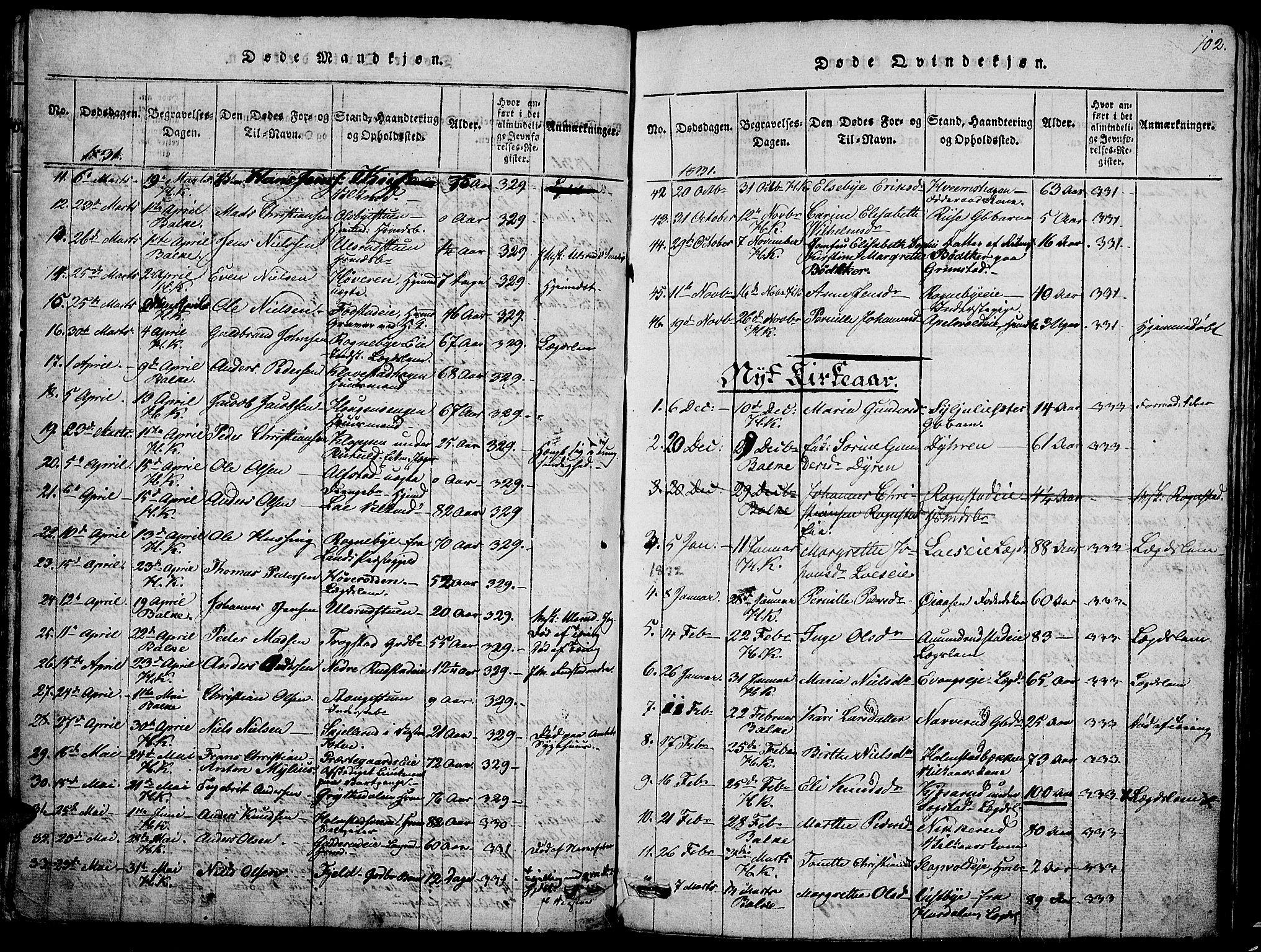 SAH, Østre Toten prestekontor, Klokkerbok nr. 1, 1827-1839, s. 102