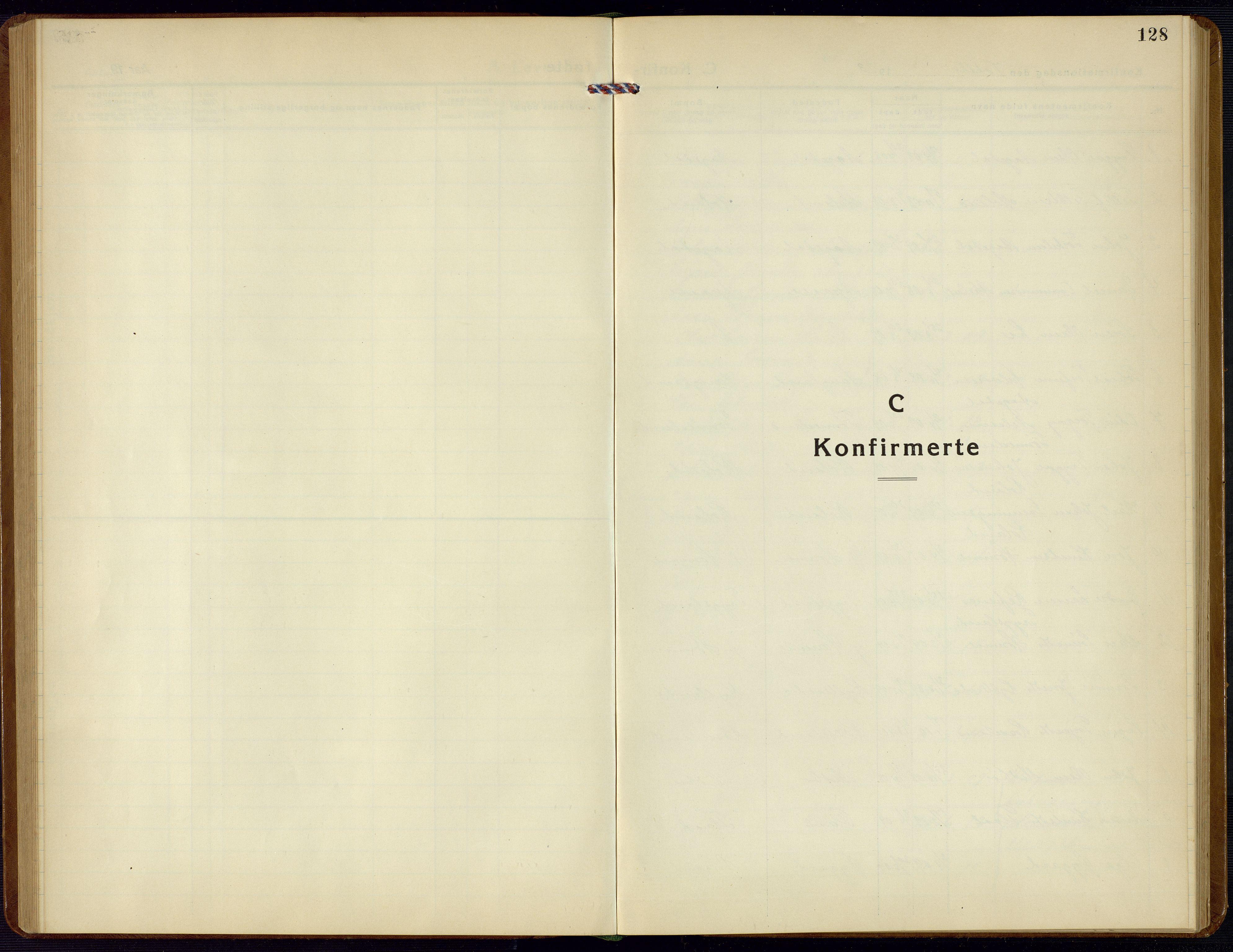 SAK, Bjelland sokneprestkontor, F/Fb/Fba/L0006: Klokkerbok nr. B 6, 1923-1956, s. 128
