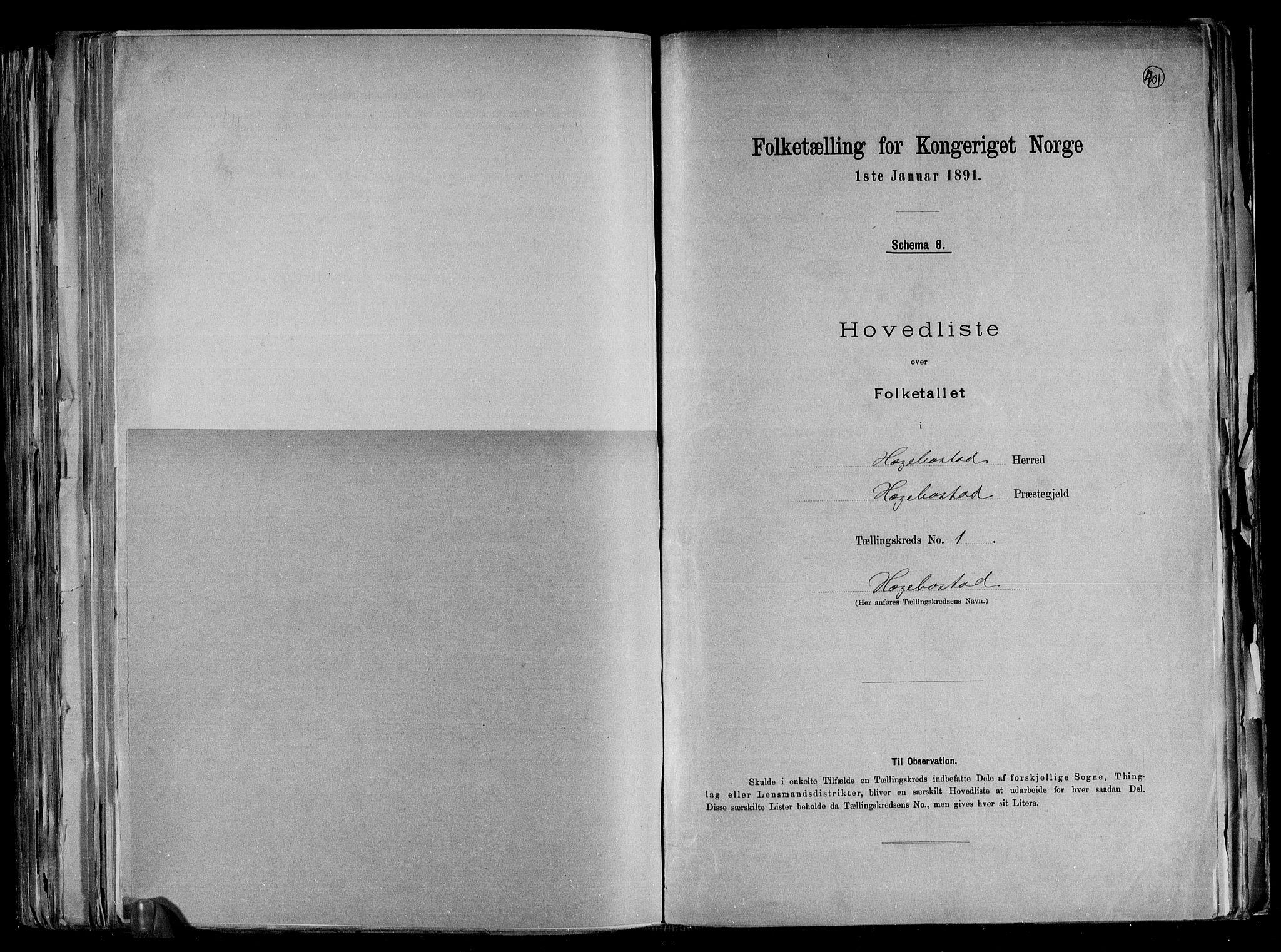 RA, Folketelling 1891 for 1034 Hægebostad herred, 1891, s. 5