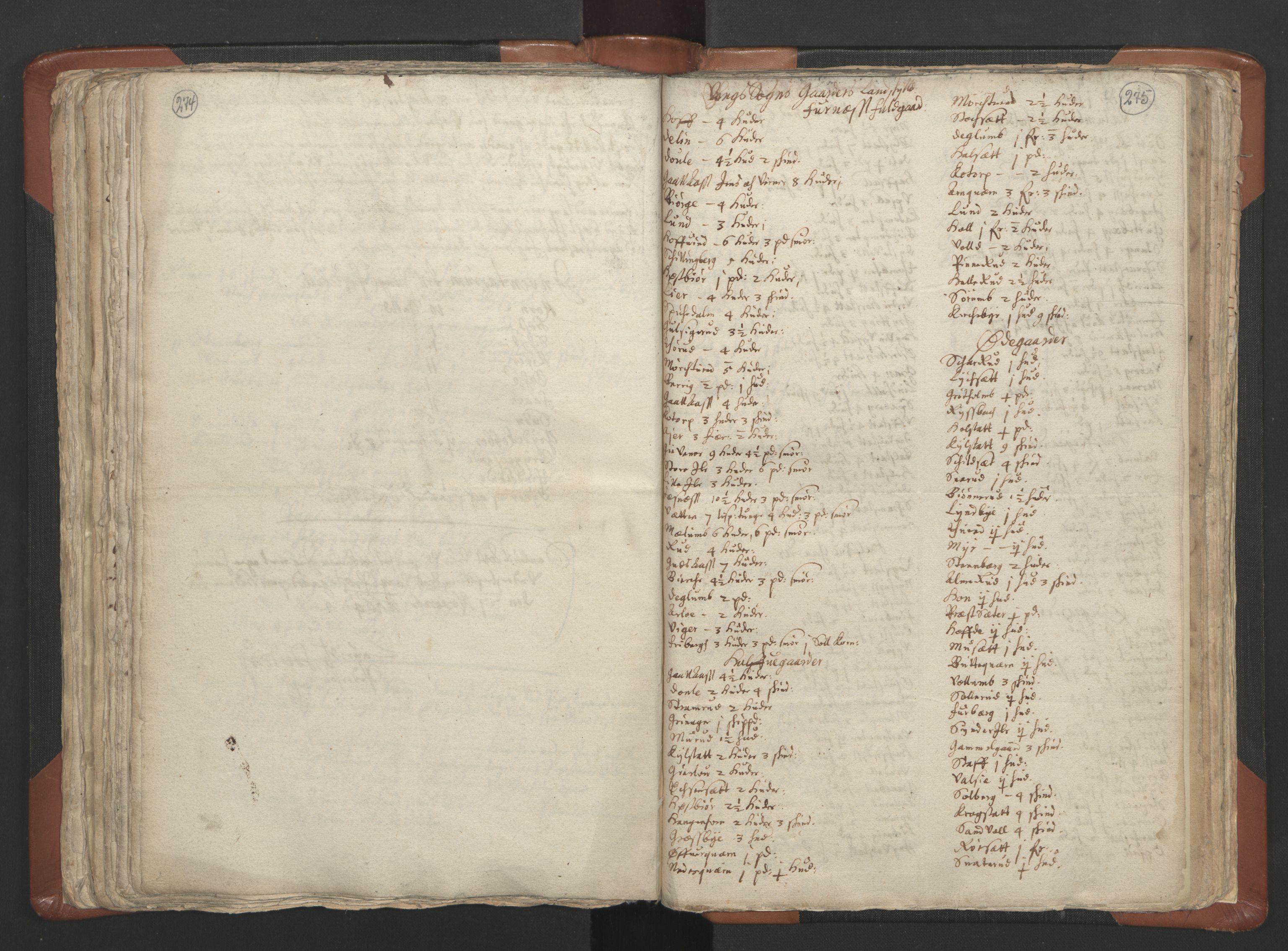 RA, Sogneprestenes manntall 1664-1666, nr. 5: Hedmark prosti, 1664-1666, s. 274-275