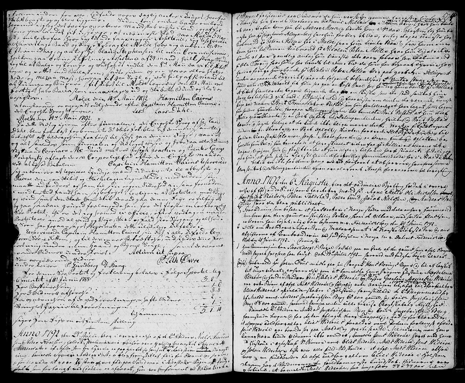 SAT, Molde byfogd, 1/1A/L0001: Justisprotokoll, 1764-1796, s. 505