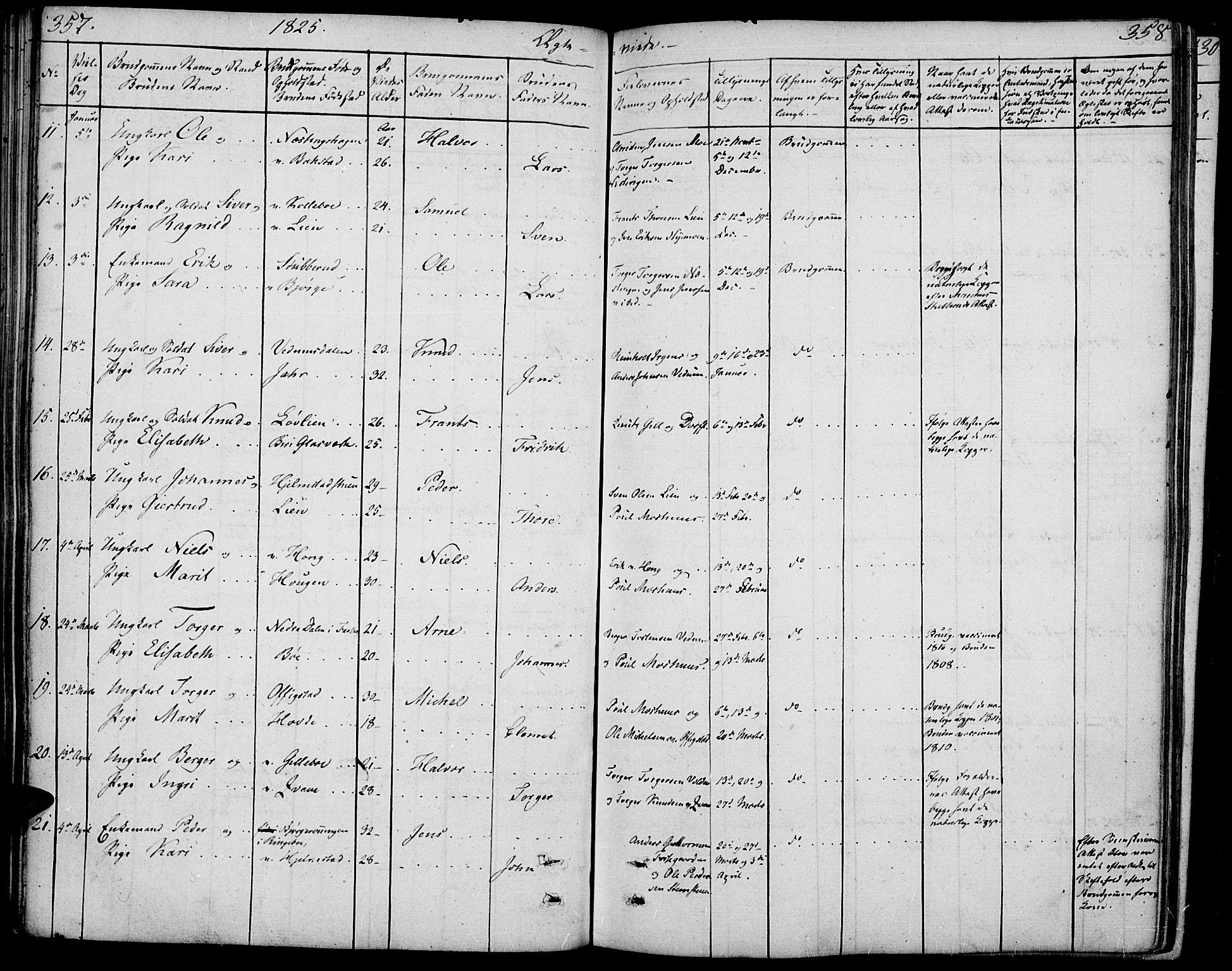 SAH, Øyer prestekontor, Ministerialbok nr. 4, 1824-1841, s. 357-358