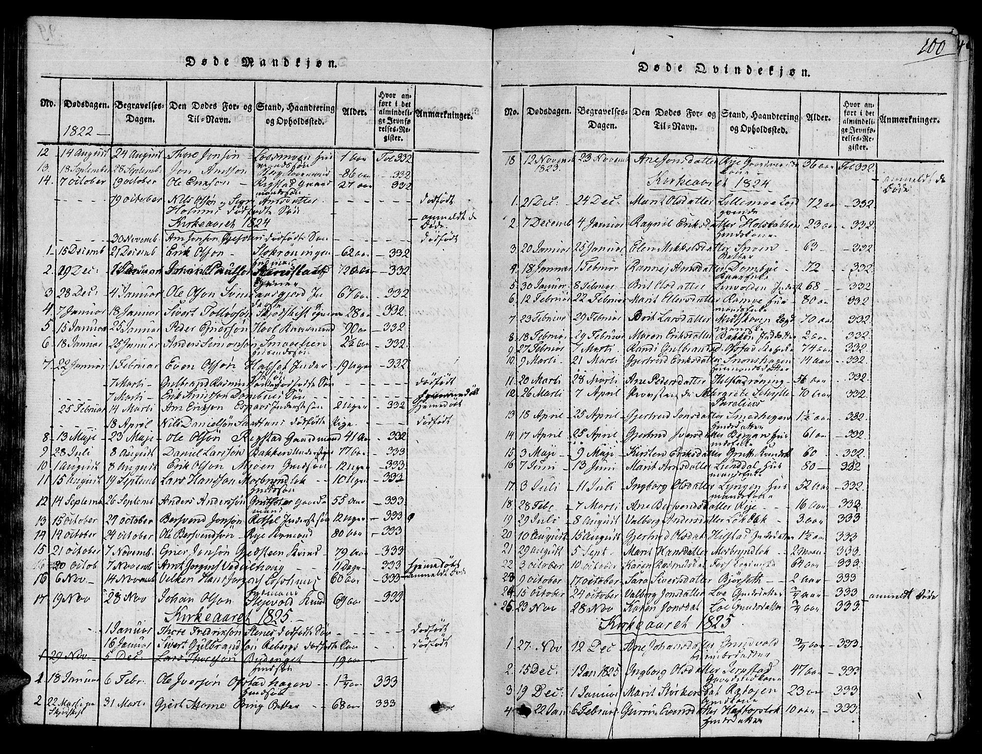 SAT, Ministerialprotokoller, klokkerbøker og fødselsregistre - Sør-Trøndelag, 672/L0853: Ministerialbok nr. 672A06 /1, 1816-1829, s. 100