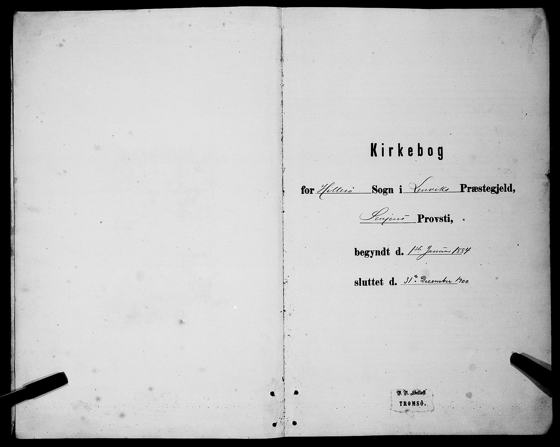 SATØ, Lenvik sokneprestembete, H/Ha: Klokkerbok nr. 21, 1884-1900
