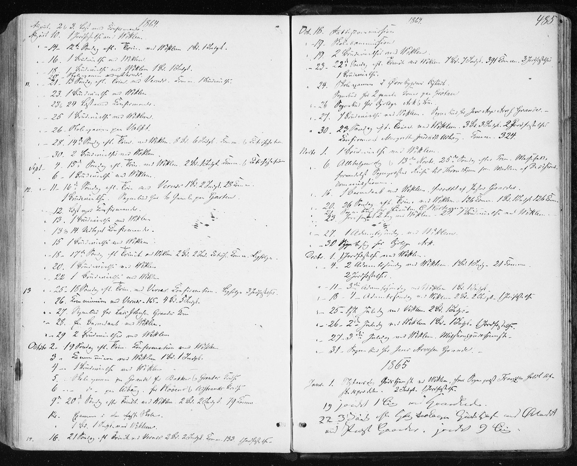 SAT, Ministerialprotokoller, klokkerbøker og fødselsregistre - Sør-Trøndelag, 659/L0737: Ministerialbok nr. 659A07, 1857-1875, s. 485