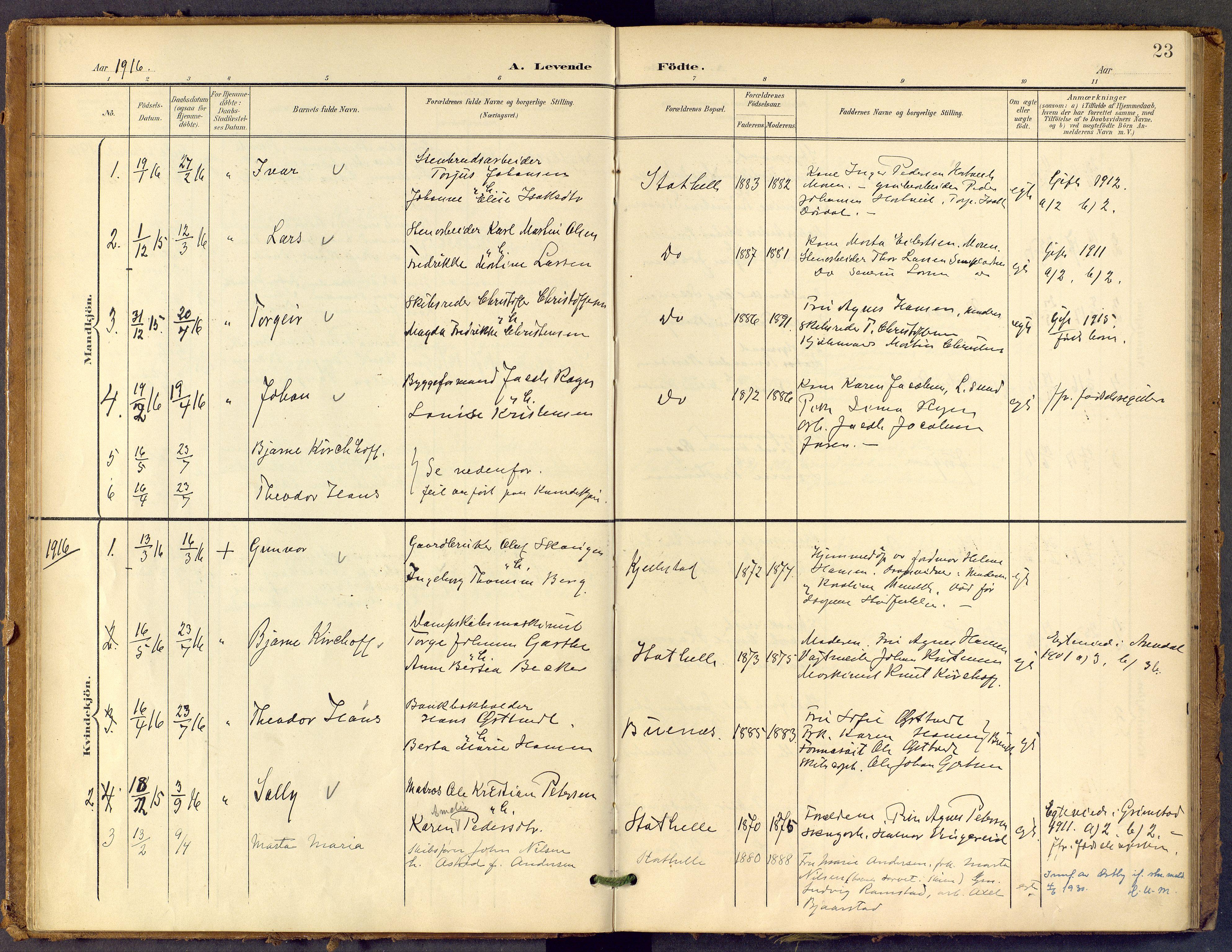 SAKO, Bamble kirkebøker, F/Fb/L0002: Ministerialbok nr. II 2, 1900-1921, s. 23