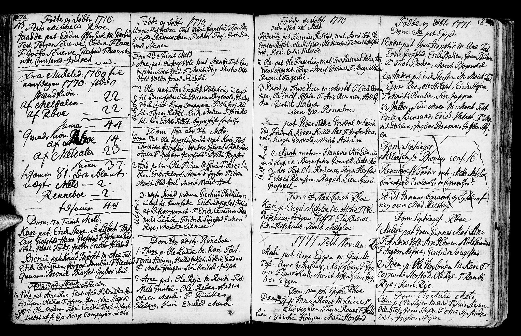 SAT, Ministerialprotokoller, klokkerbøker og fødselsregistre - Sør-Trøndelag, 672/L0851: Ministerialbok nr. 672A04, 1751-1775, s. 276-277