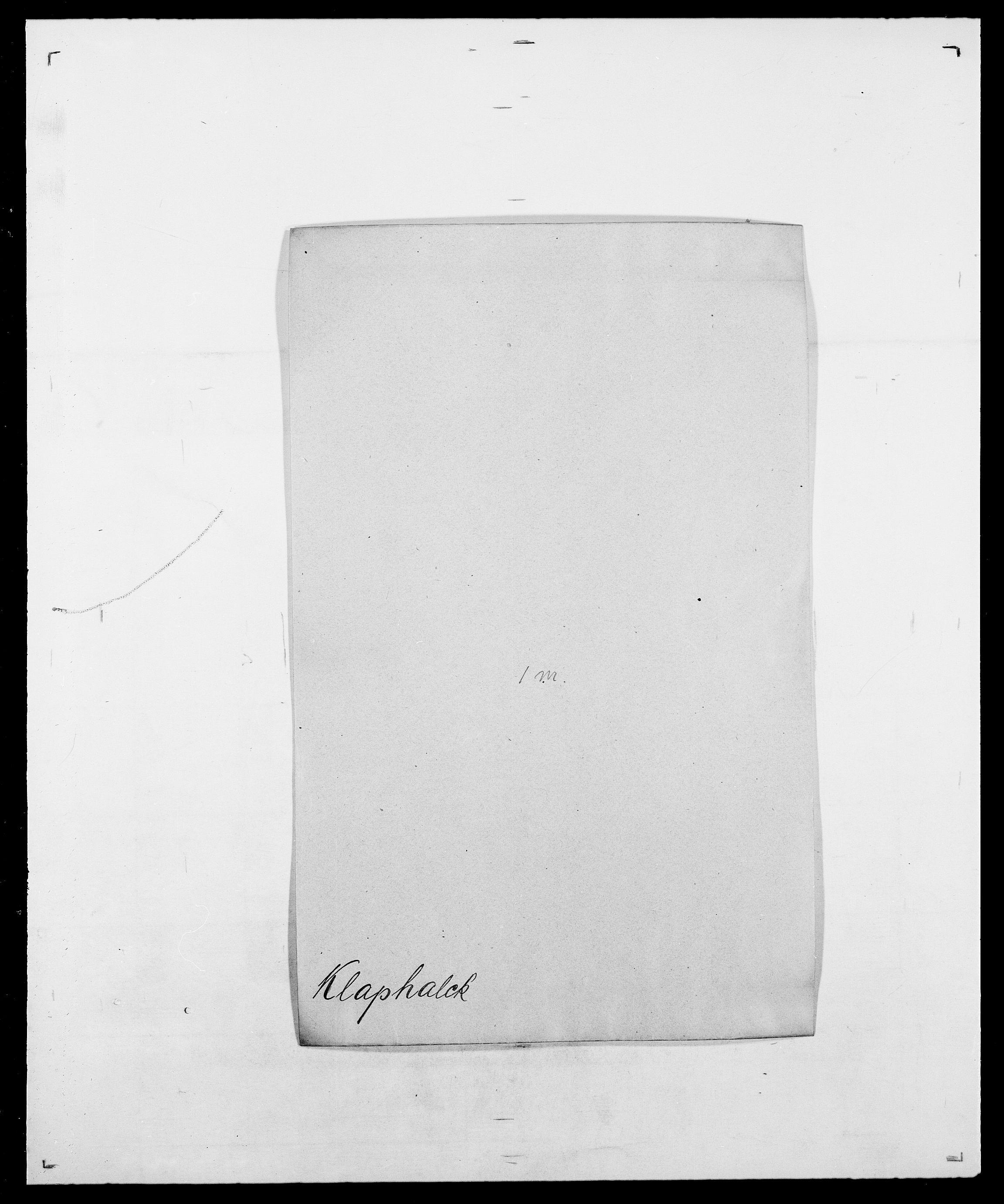 SAO, Delgobe, Charles Antoine - samling, D/Da/L0021: Klagenberg - Kristoft, s. 4