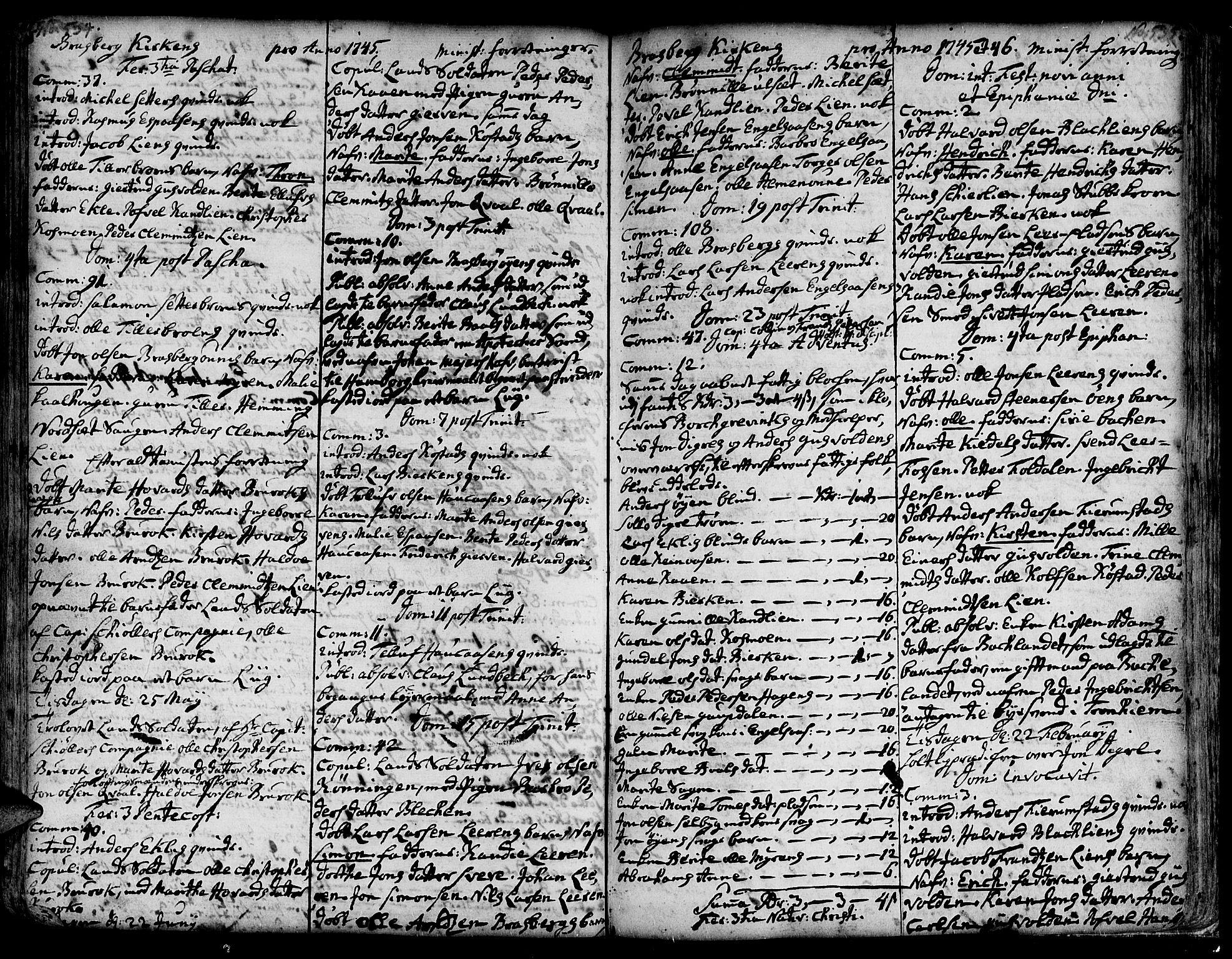 SAT, Ministerialprotokoller, klokkerbøker og fødselsregistre - Sør-Trøndelag, 606/L0278: Ministerialbok nr. 606A01 /4, 1727-1780, s. 534-535