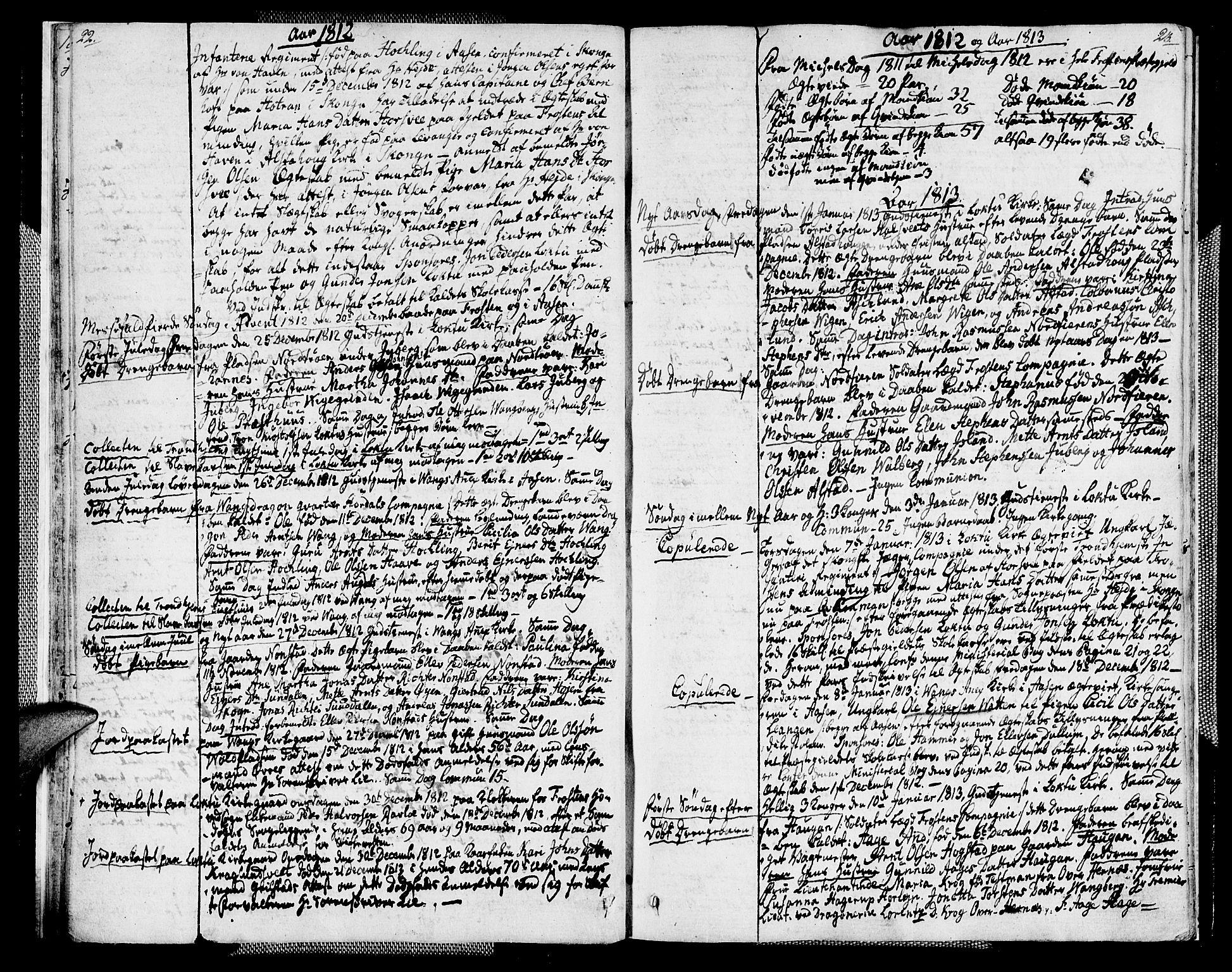 SAT, Ministerialprotokoller, klokkerbøker og fødselsregistre - Nord-Trøndelag, 713/L0111: Ministerialbok nr. 713A03, 1812-1816, s. 22-23