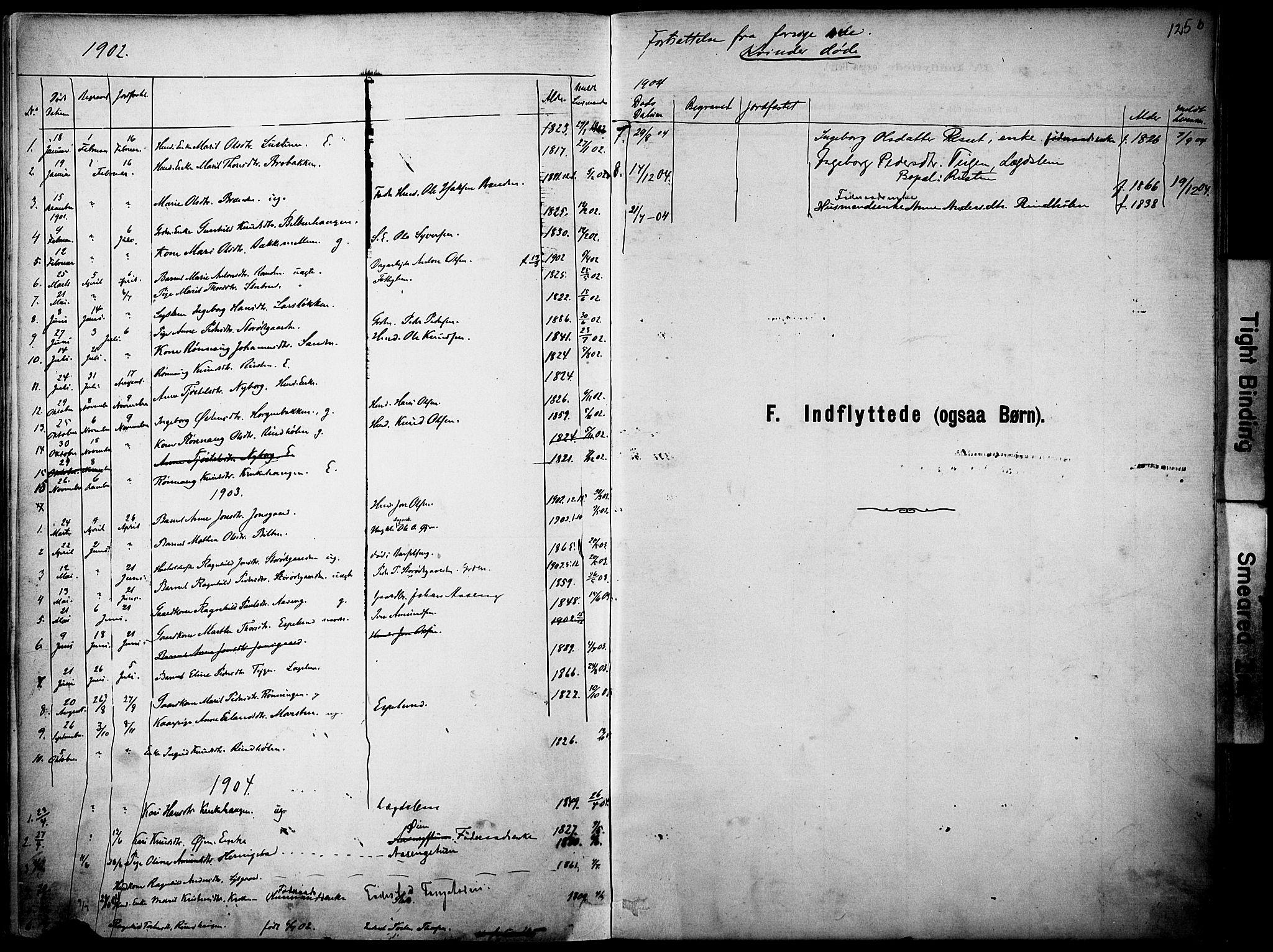 SAH, Vågå prestekontor, Ministerialbok nr. 10, 1887-1904, s. 125b